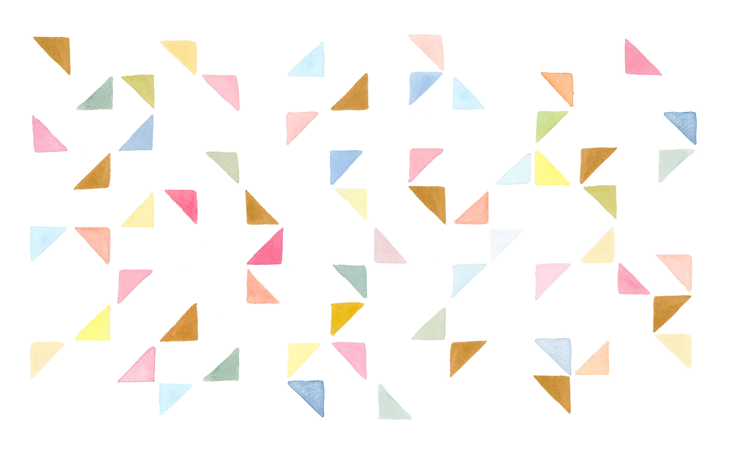 Res: 2560x1601, click to download the WATERCOLOR TRIANGLES (45679) DESKTOP WALLPAPER ...