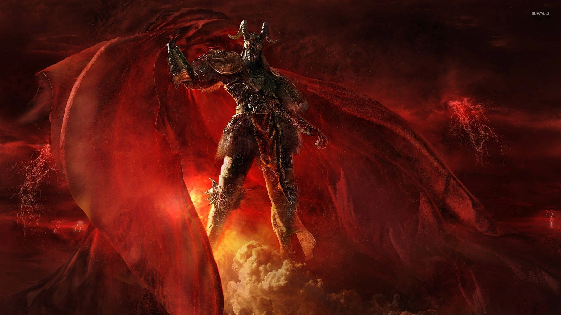 Res: 1920x1080, Scary demon in hell wallpaper