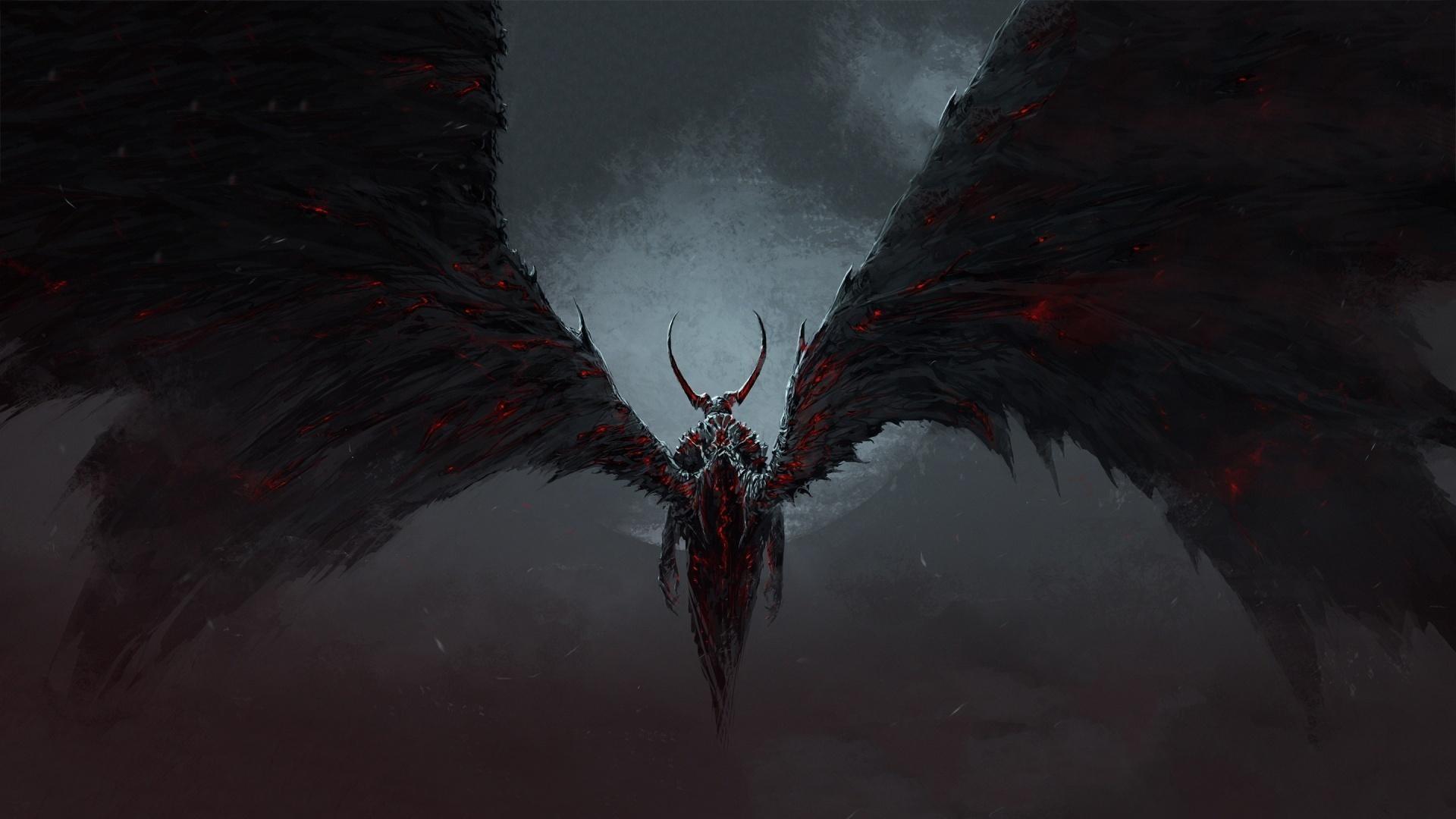 Res: 1920x1080, beängstigend angel demon