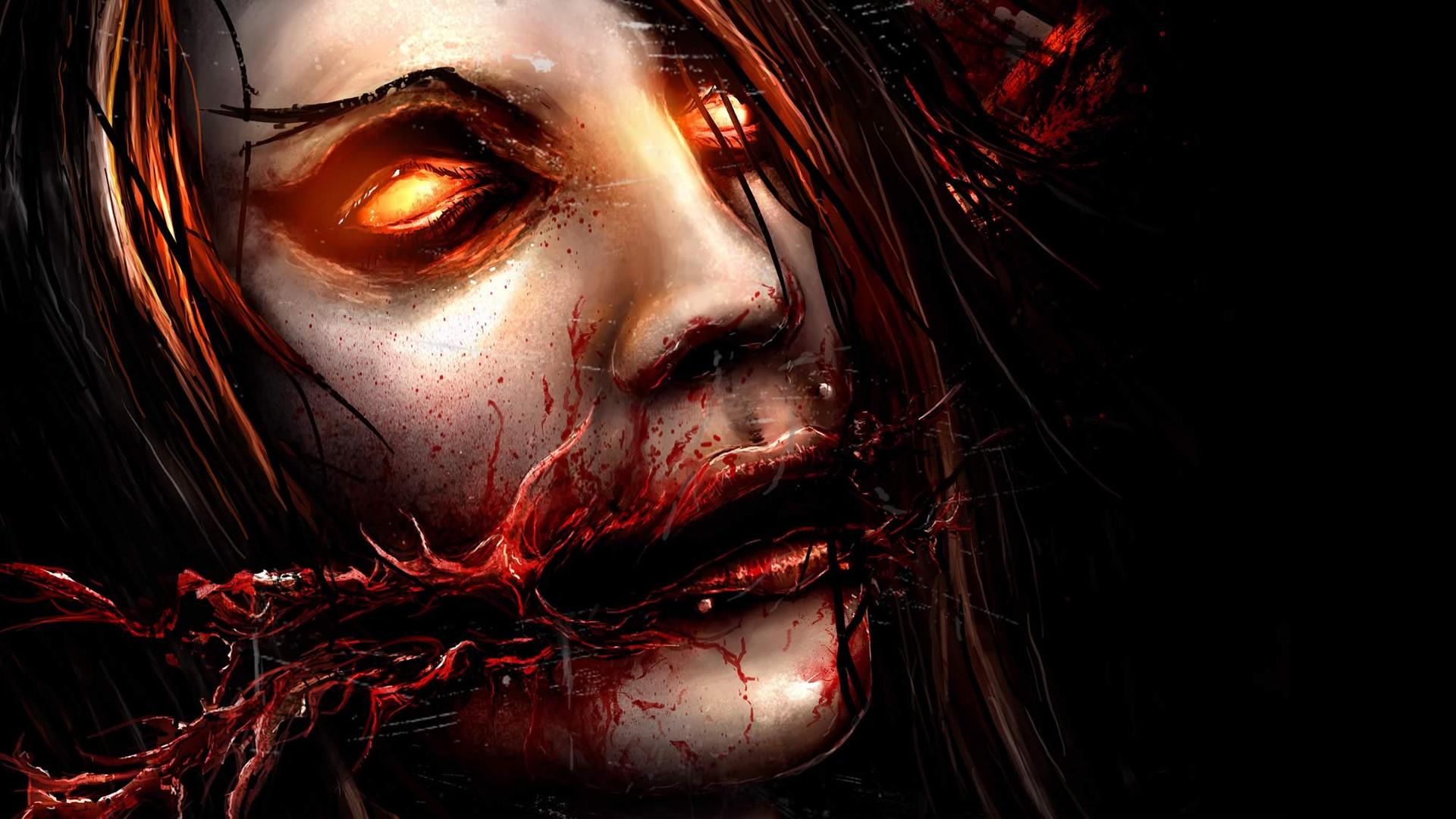 Res: 1920x1080, Chelsea Grin Face Creepy Drawing heavy metal hard rock dark blood horror  macabre demon eyes wallpaper |  | 79500 | WallpaperUP
