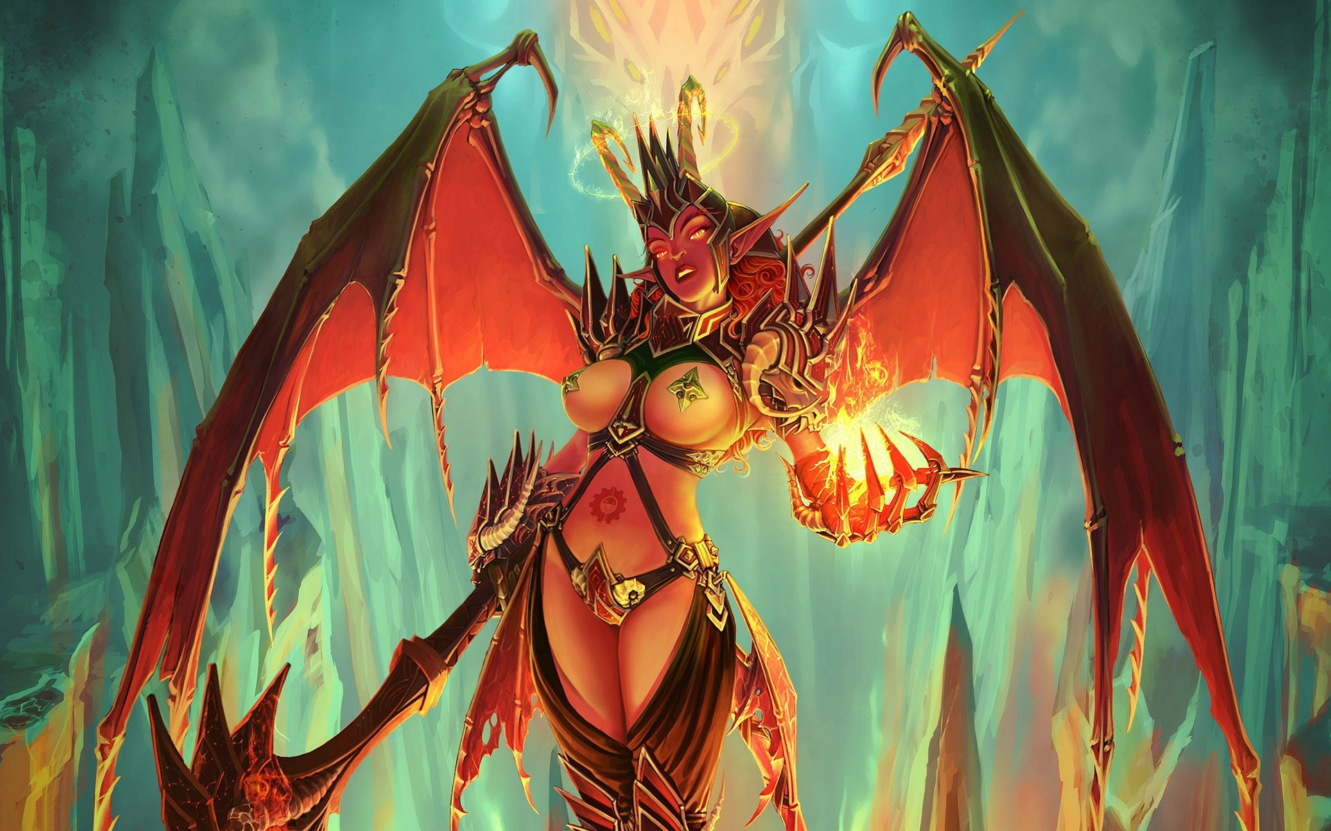 Res: 1920x1200, Female Demon Wallpaper