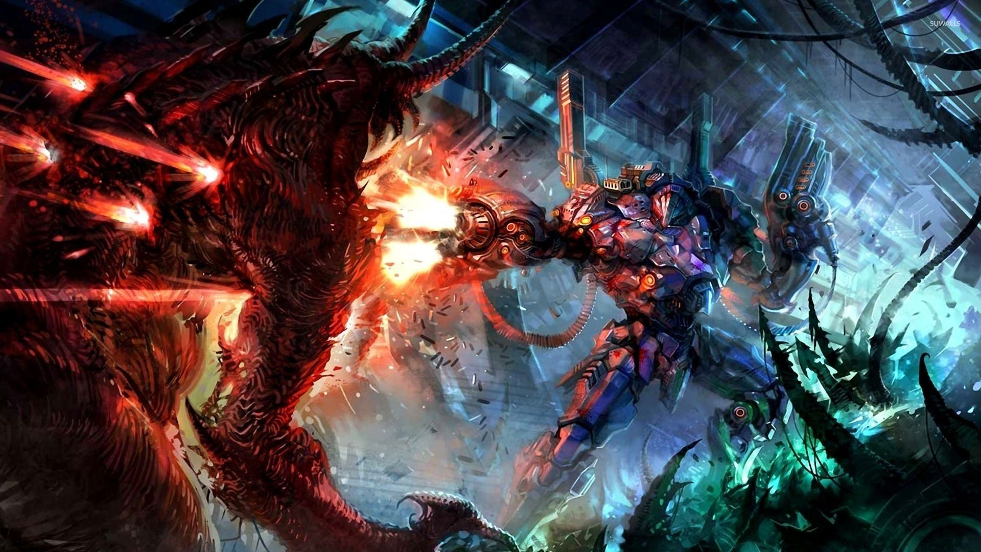 Res: 1920x1080, Scary demon in hell wallpaper - Fantasy wallpapers - #54038