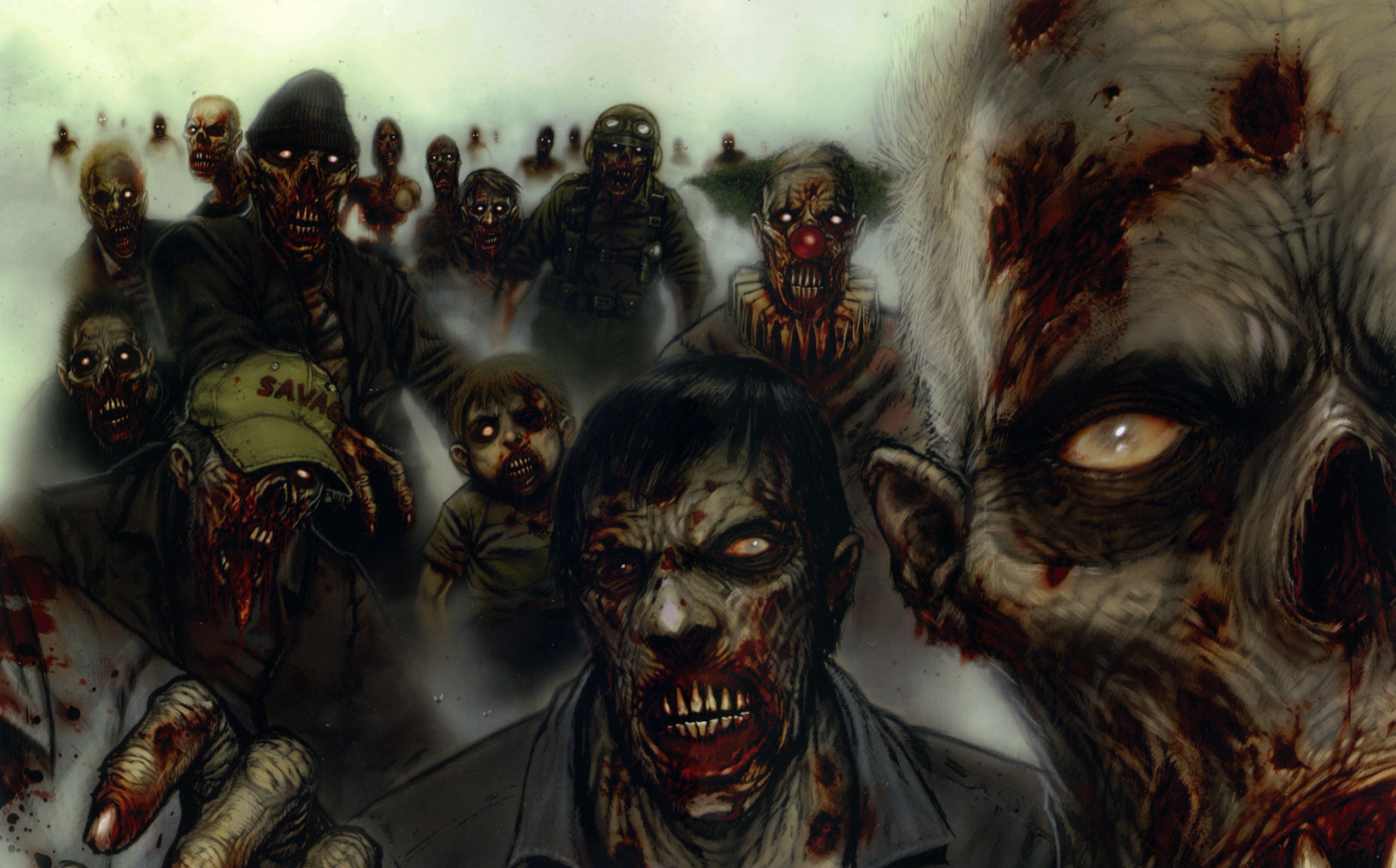 Res: 2560x1592, Scary Zombie Wallpaper High Definition ...