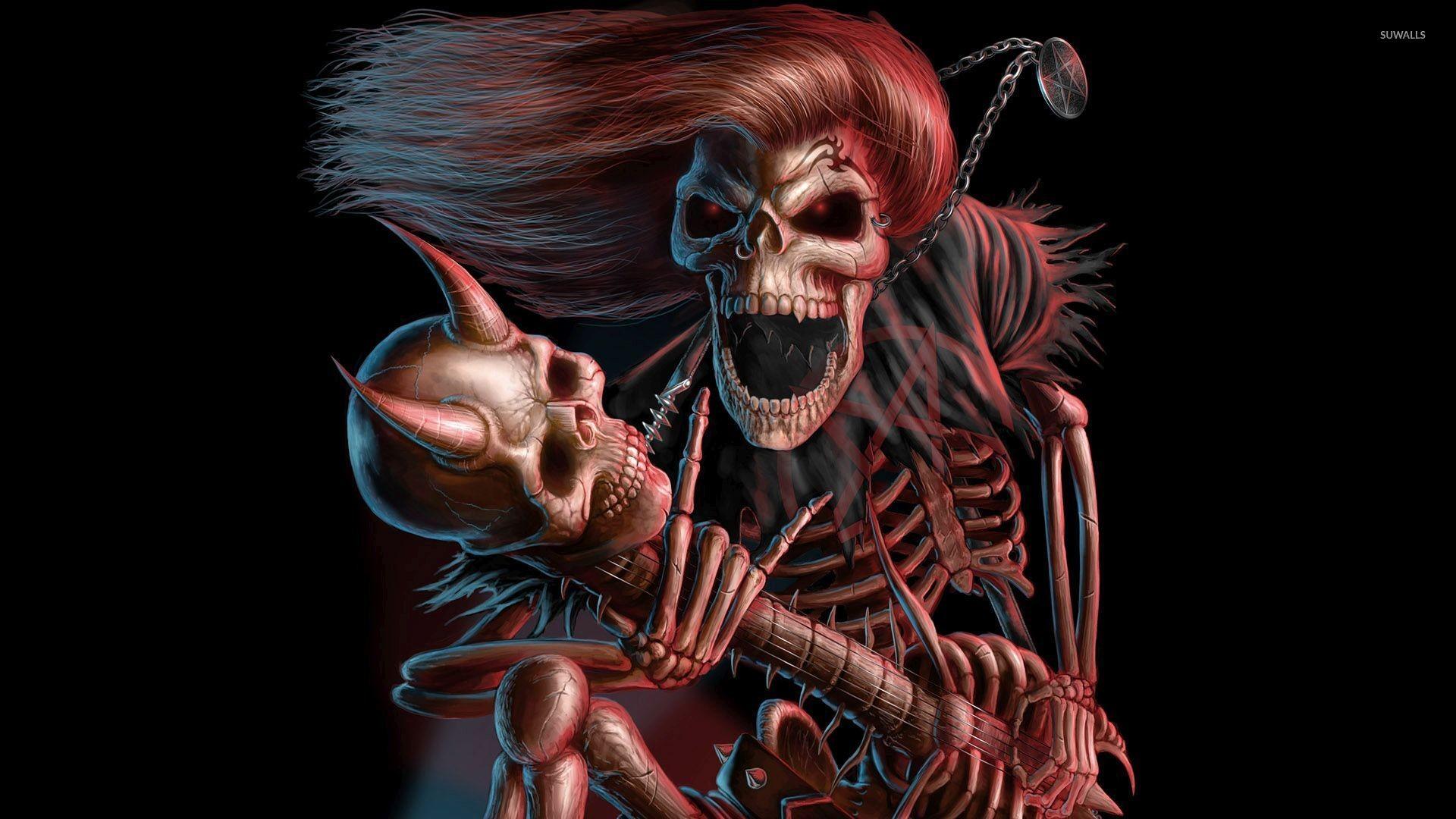 Res: 1920x1080, Scary skeleton wallpaper
