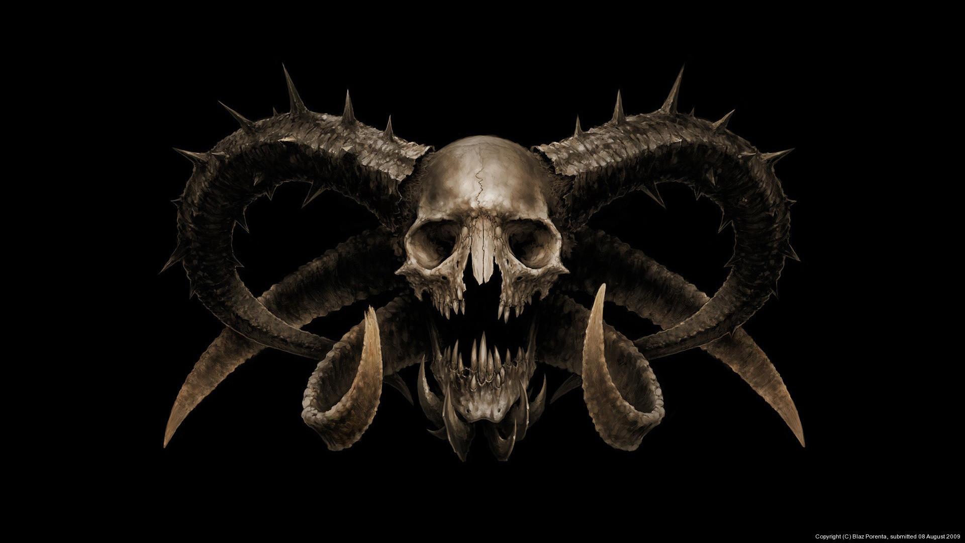 Res: 1920x1080, Dark horror demon satan occult skull wallpaper |  | 29392 |  WallpaperUP