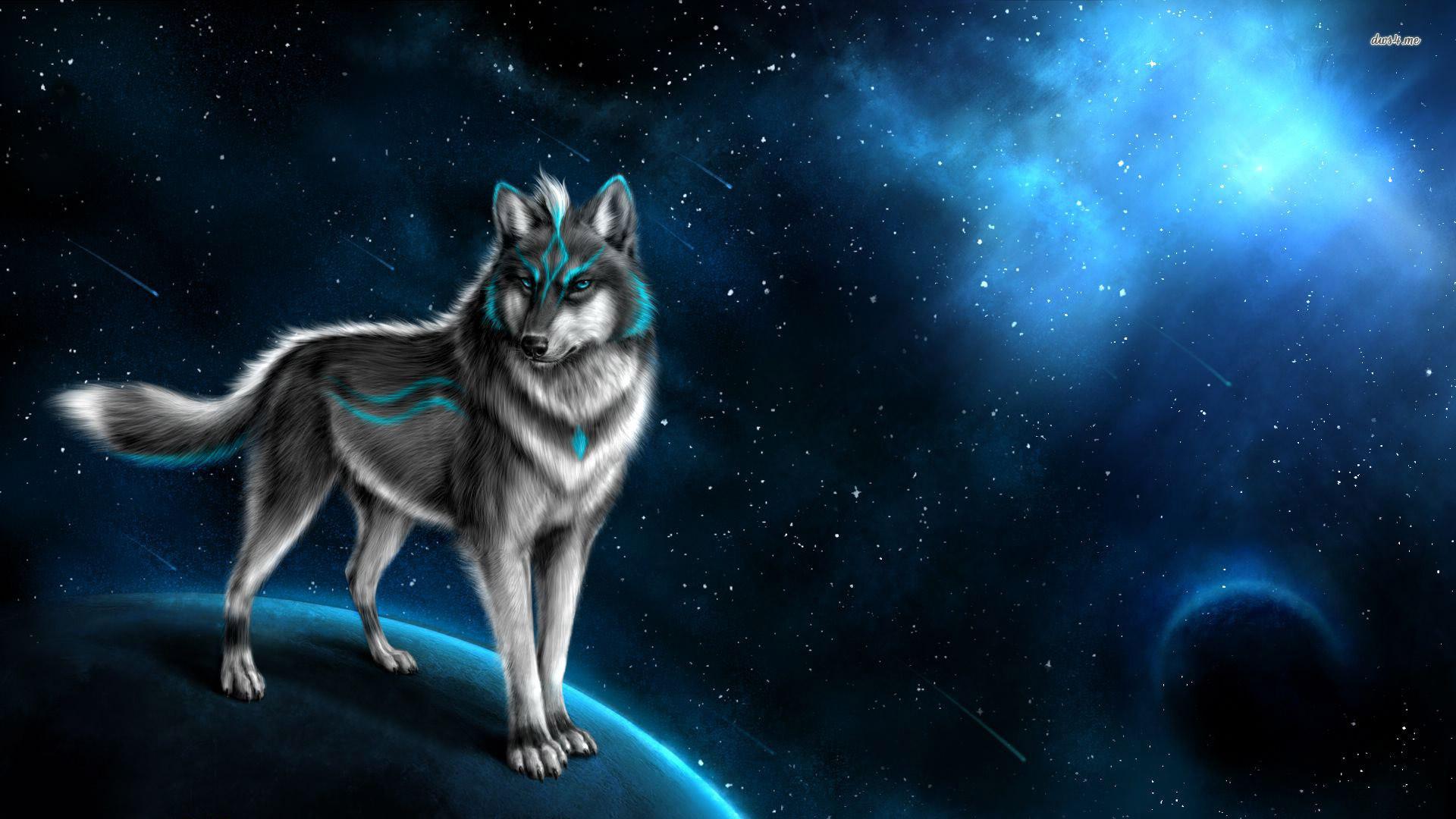 Res: 1920x1080, ... Mystical wolf wallpaper  ...