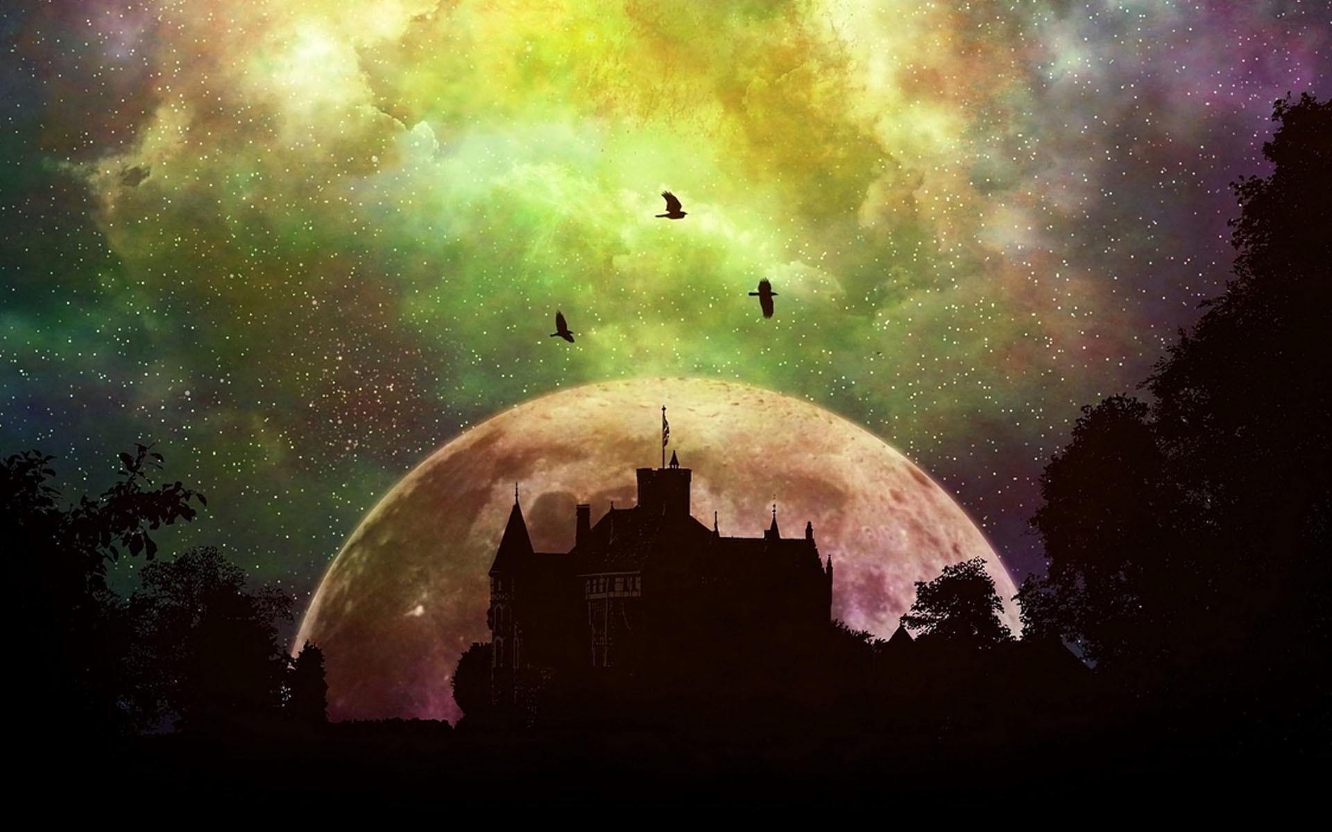 Res: 1920x1200, Mystical castle HD wallpaper