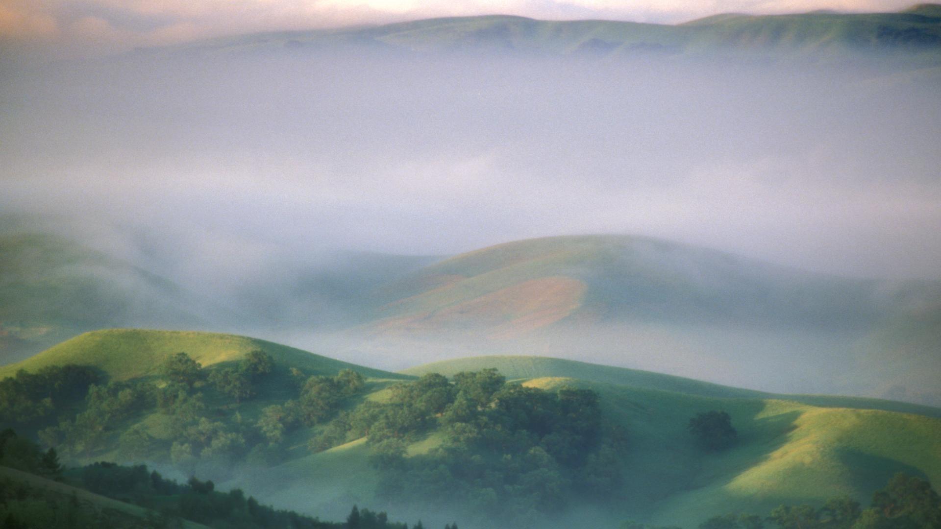 Res: 1920x1080, Fog diablo california morning mount mystical wallpaper