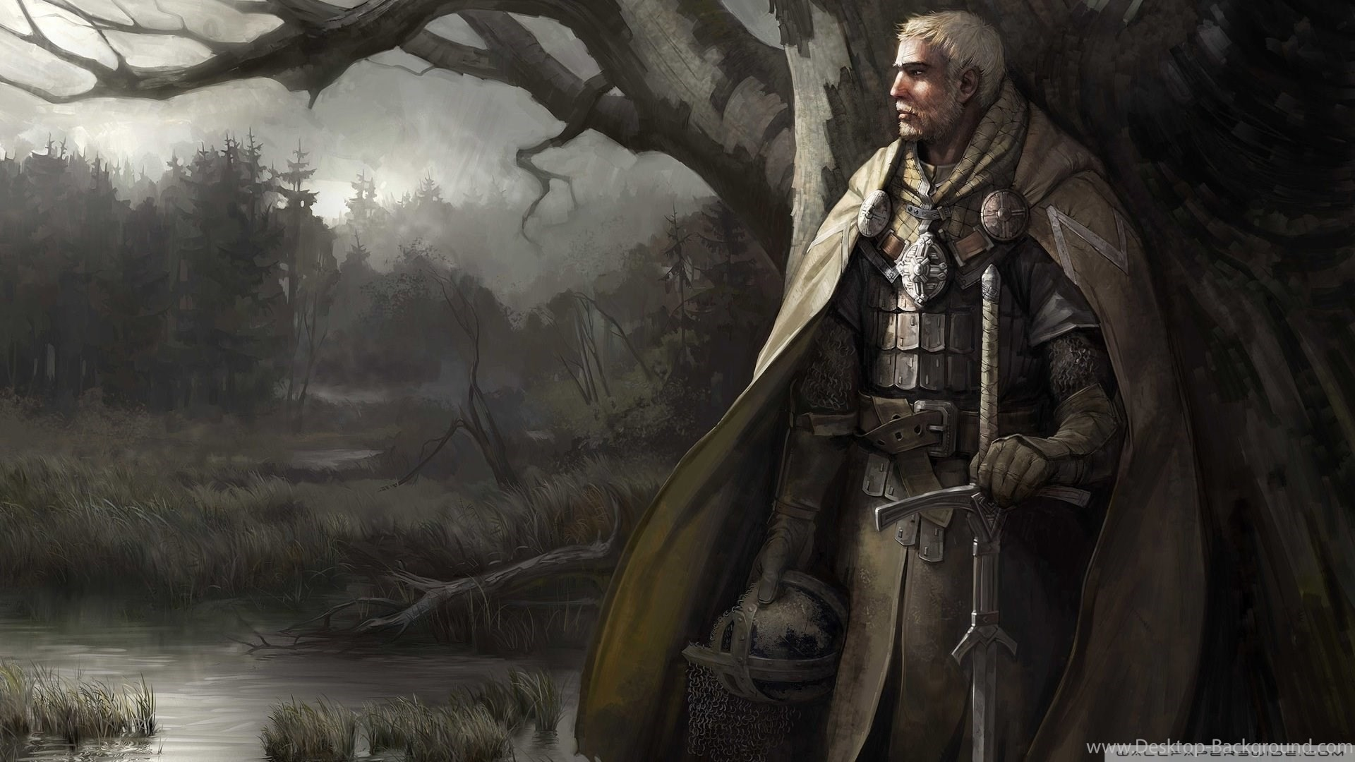 Res: 1920x1080, Download Templar Knight Art Wallpapers