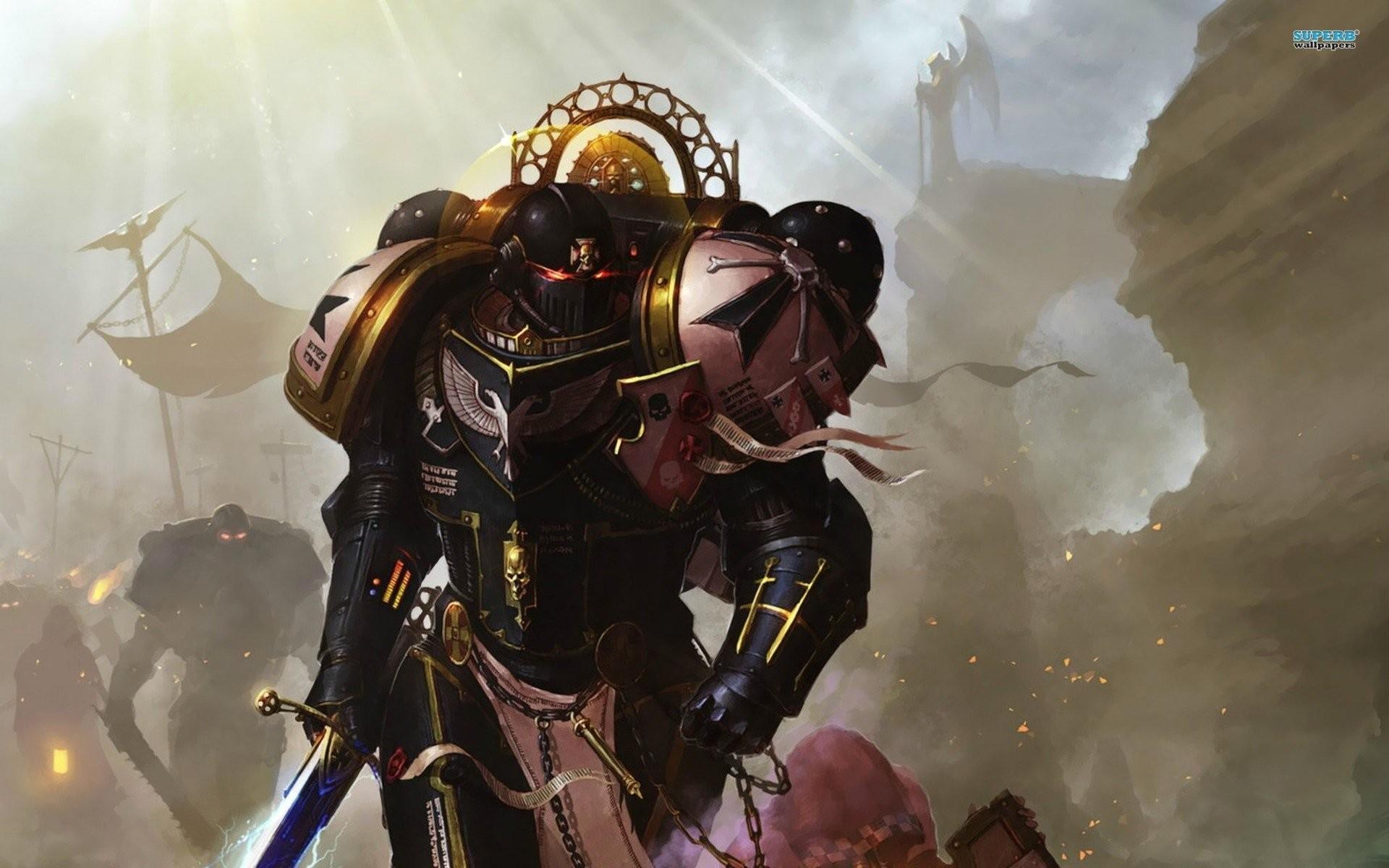 Res: 1920x1200, Computerspiele - Warhammer 40K Black Templar Wallpaper