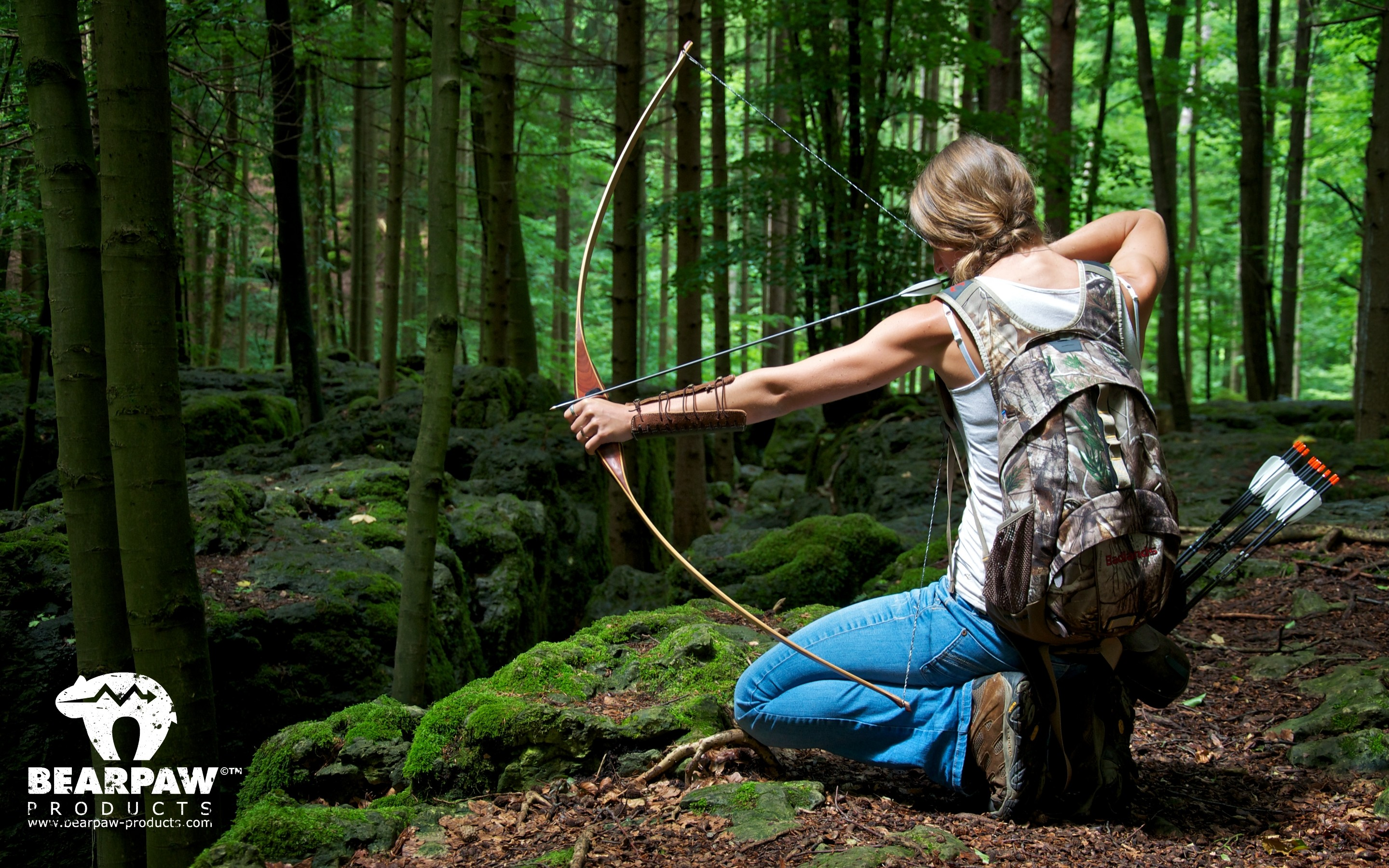 Res: 2880x1800, Archery Girl Outdoor Bearpaw Products Wallpaper .