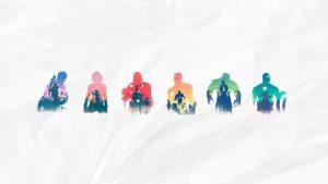 Minimalist Marvel wallpapers