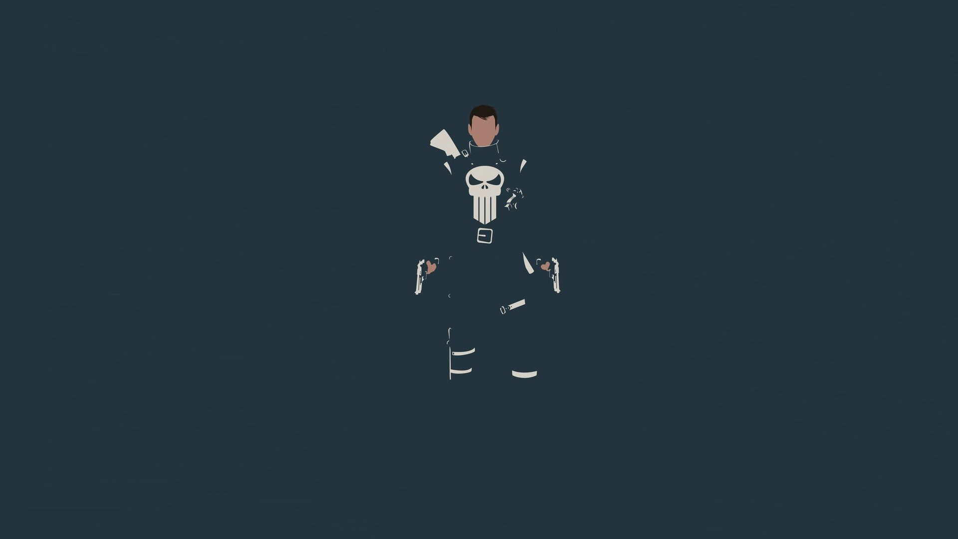 Res: 1920x1080, The Punisher, Minimalism, Marvel Comics, Skull Wallpapers HD / Desktop and  Mobile Backgrounds