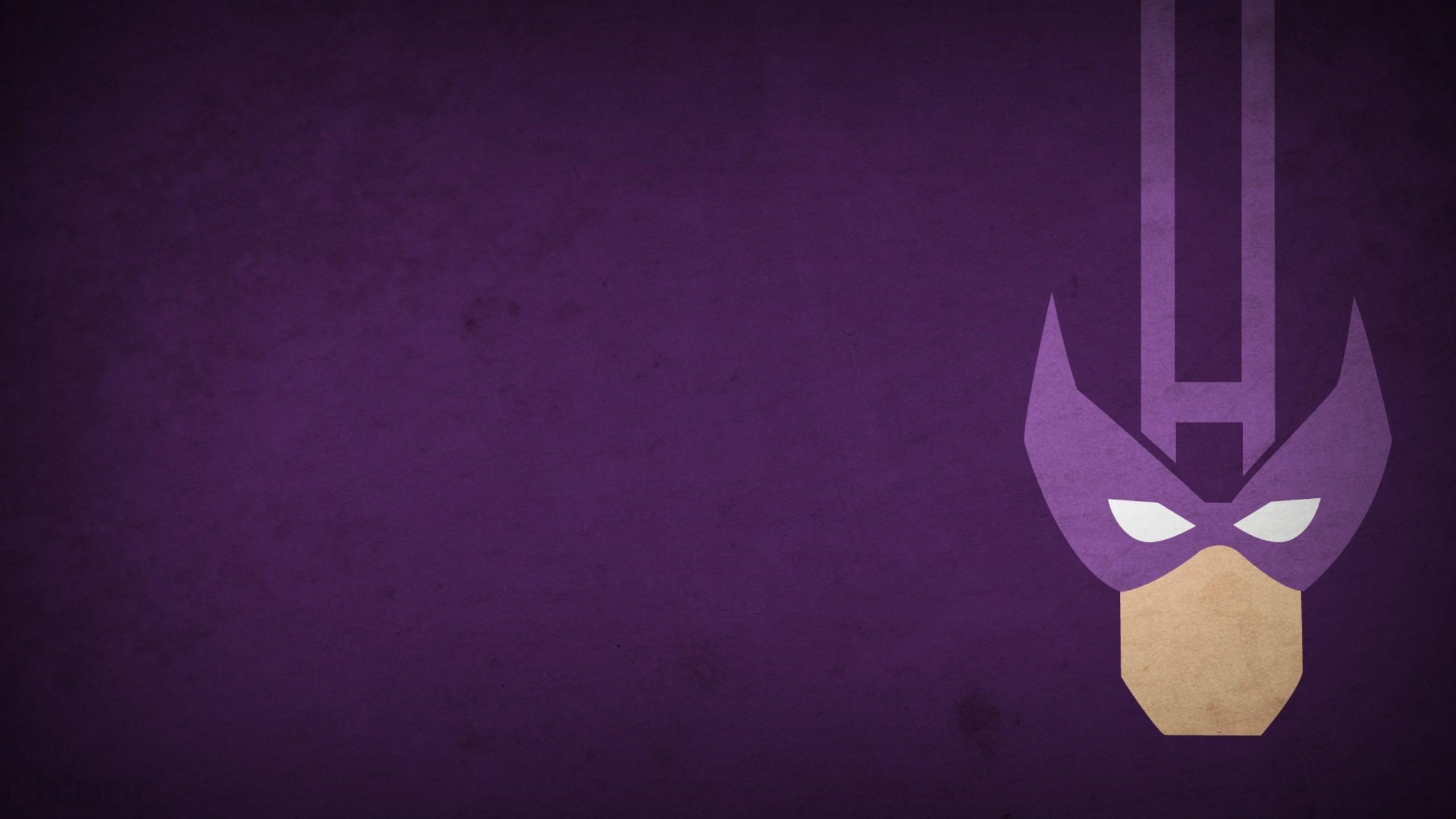 Res: 2560x1440, Minimalistic Marvel Comics Hawkeye purple background blo0p wallpaper |   | 222610 | WallpaperUP