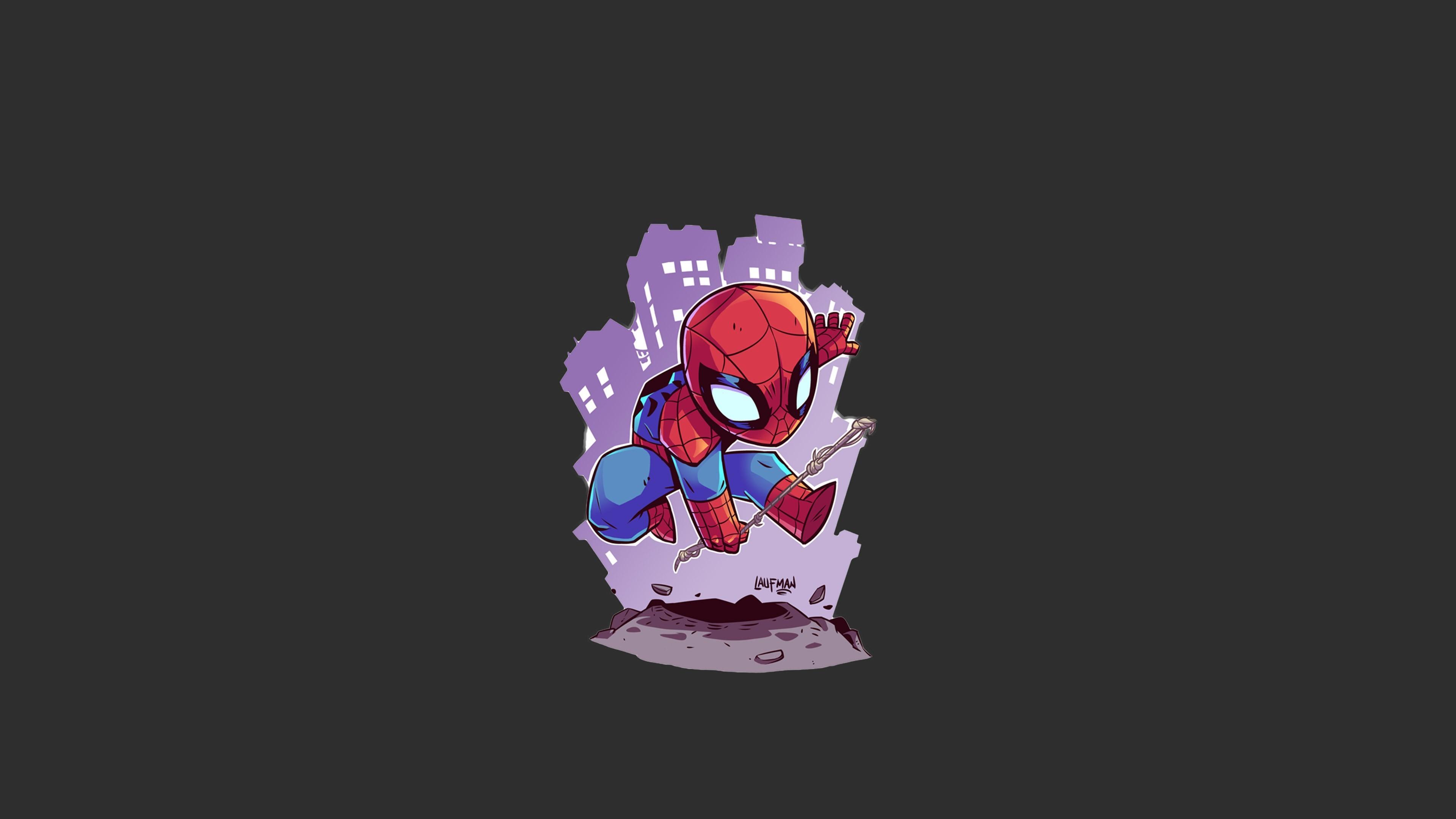 Res: 3840x2160, Comics - Spider-Man Marvel Comics Minimalist Wallpaper
