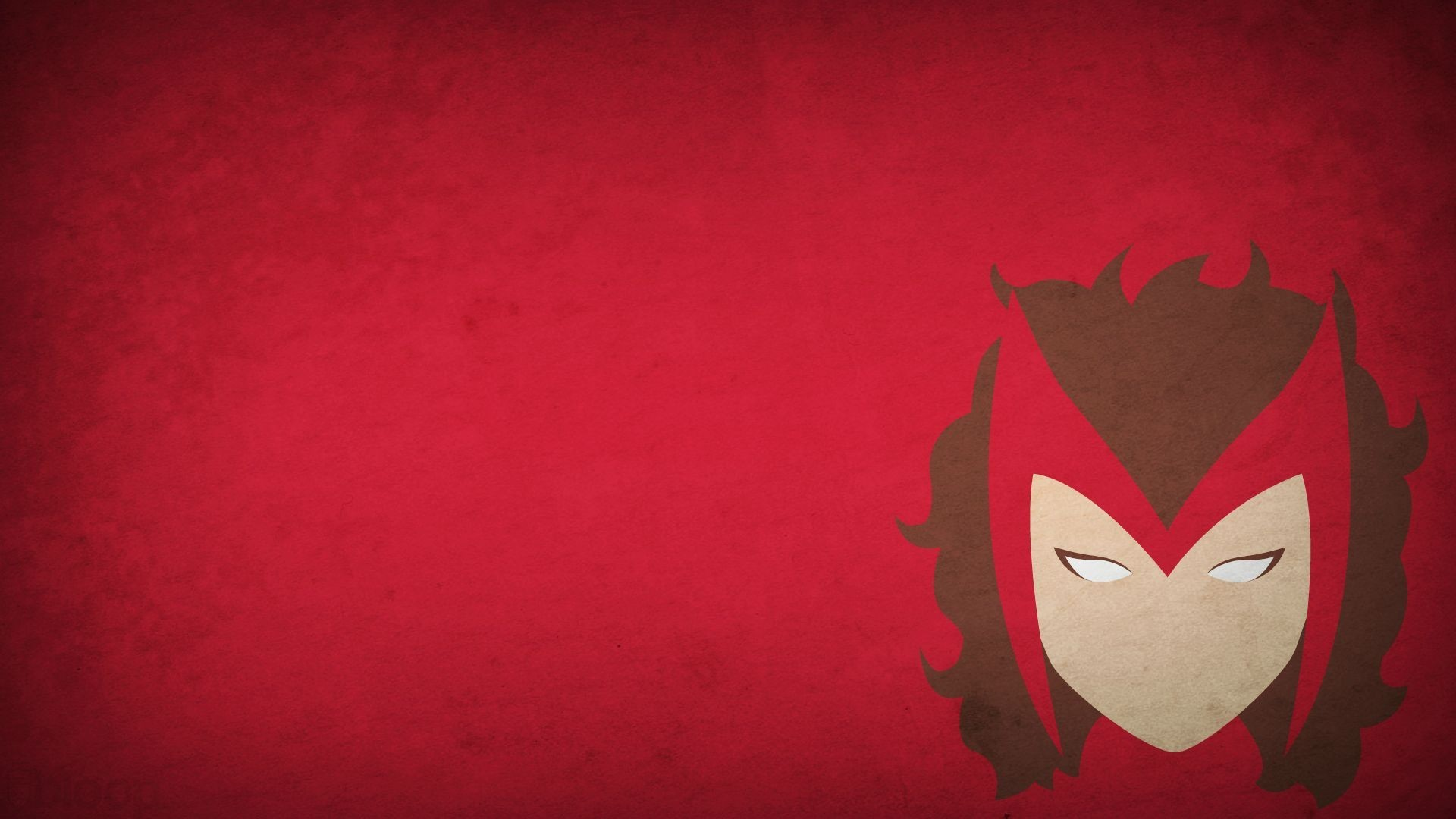 Res: 1920x1080, minimalism blo0p scarlet witch red background superhero marvel heroes  wallpaper and background