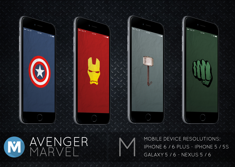 Res: 2880x2045, ... MOBILE : Avenger Marvel Wallpaper Pack by polygn