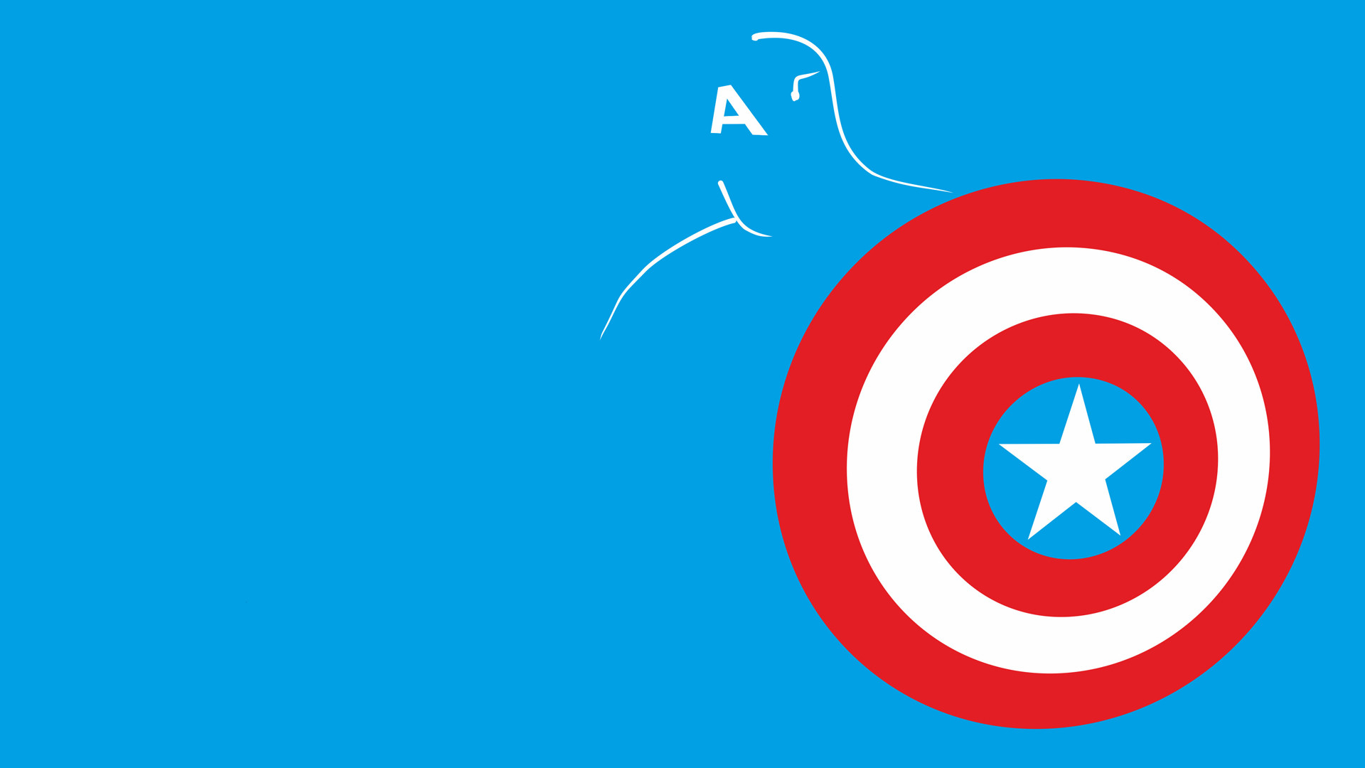 Res: 1920x1080, Tablet Compatible - Captain America Minimalist High Resolution Pictures