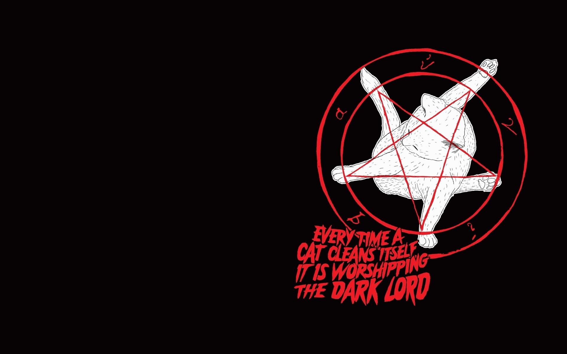 Res: 1920x1200, Cats pentagram satanism wallpaper