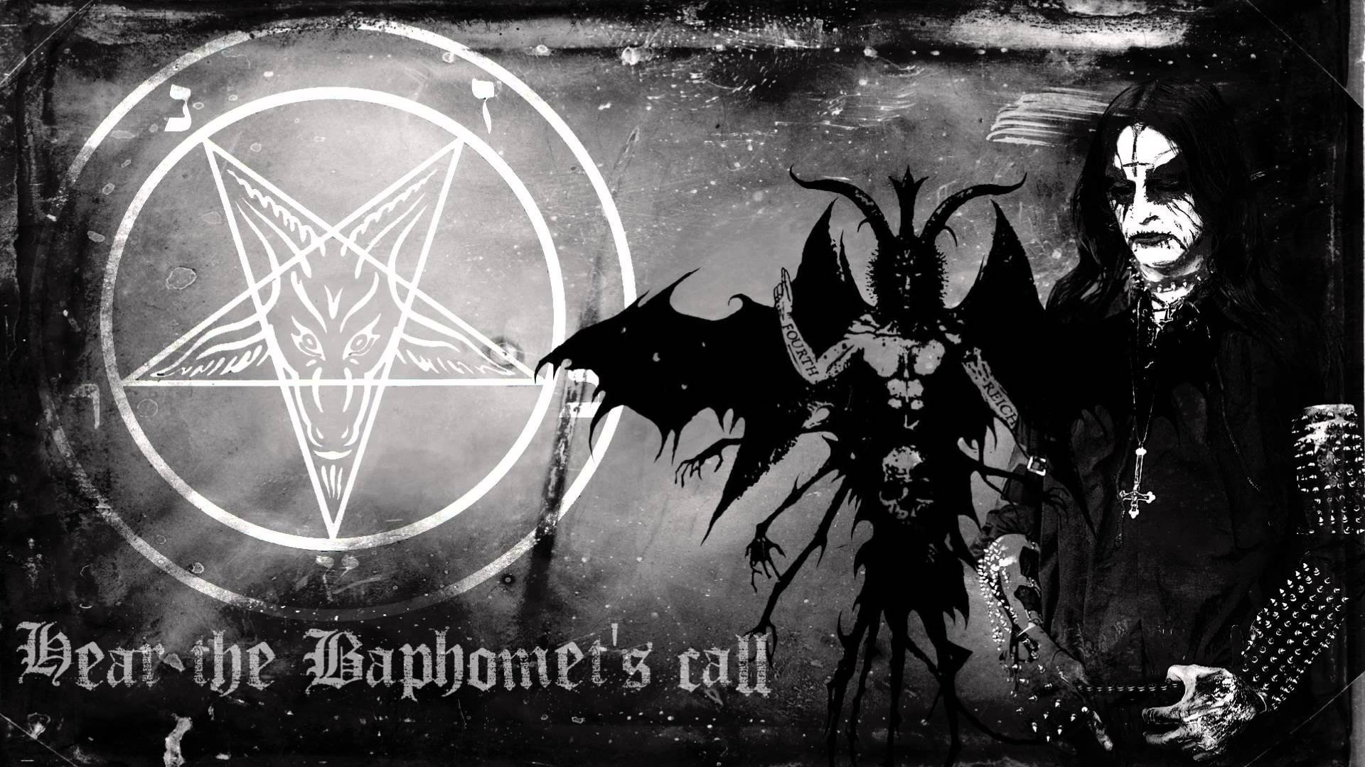 Res: 1920x1080, BEHEXEN black metal heavy poster dark occult satanic pentagram wallpaper