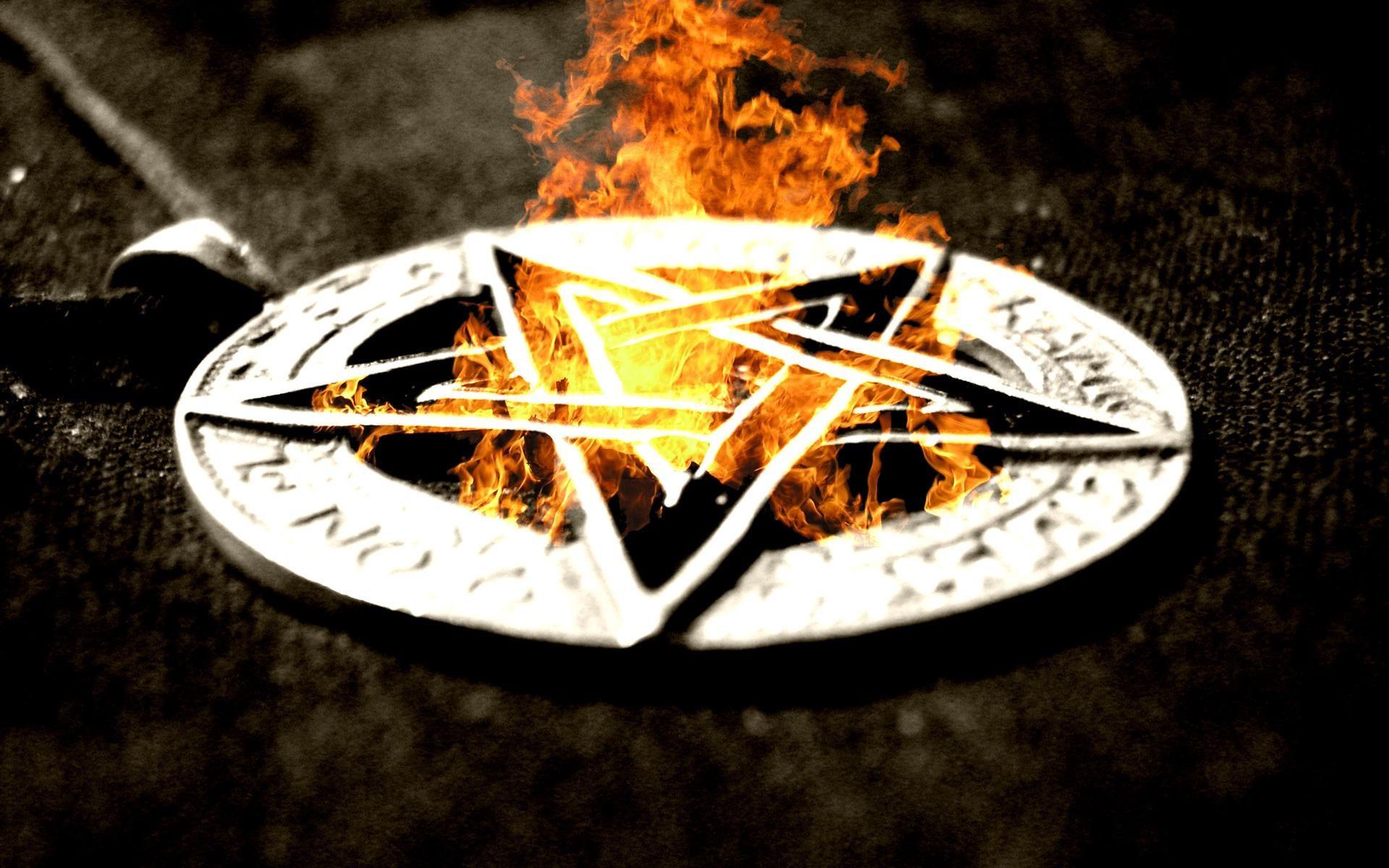Res: 1920x1200, Pentacle Fire pentagram occult dark evil satan wallpaper |  |  27923 | WallpaperUP