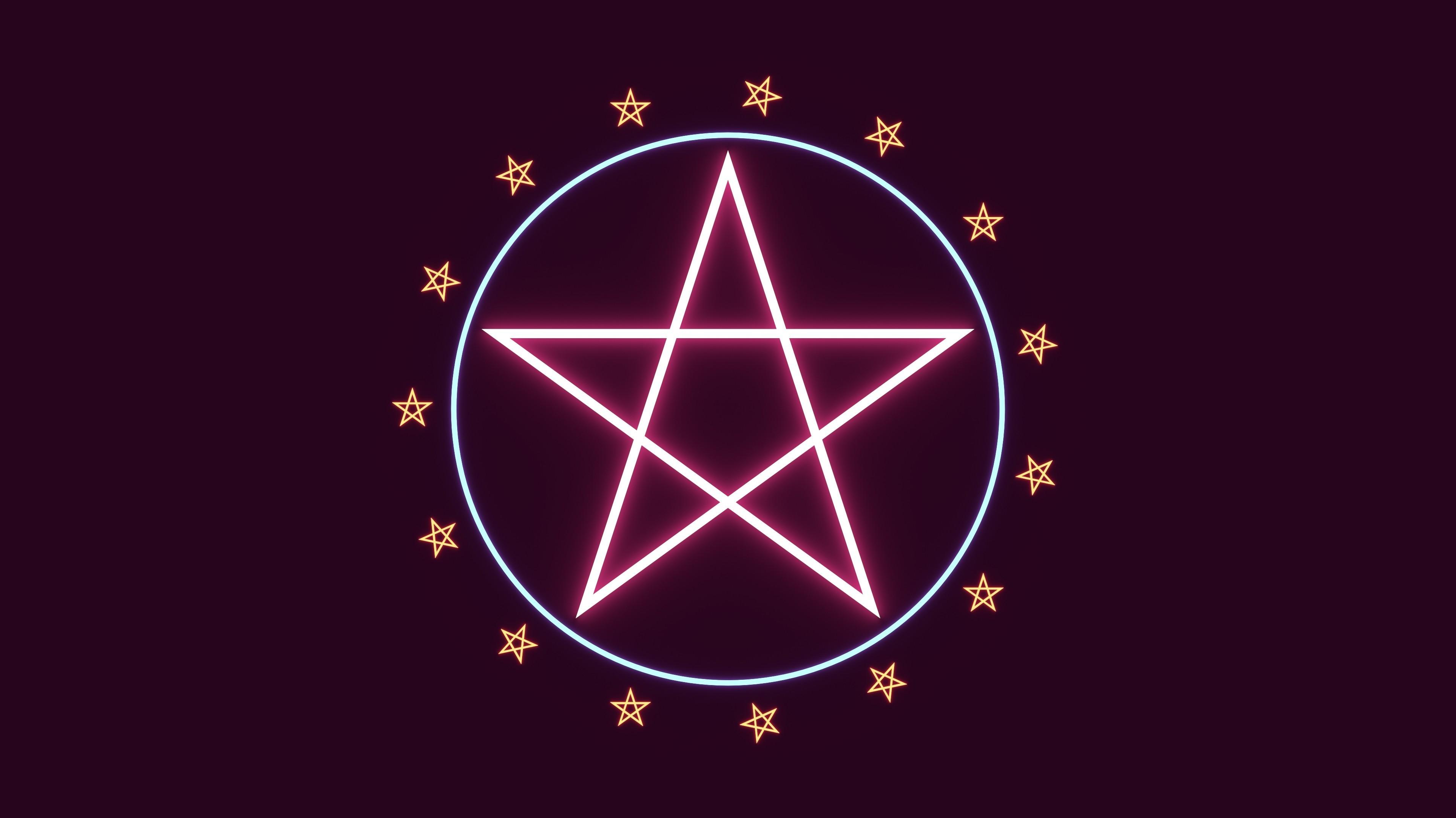 Res: 3840x2160, ... Satanic Pentagram Wallpaper