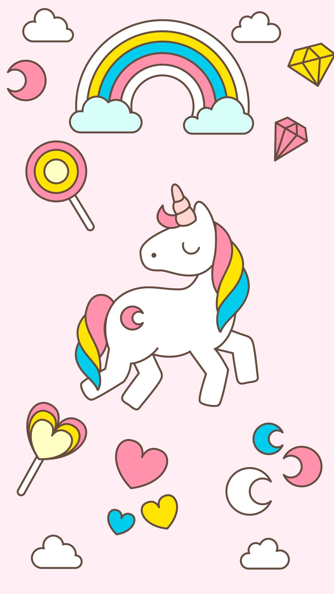 Res: 1080x1920, Horn To Be Wild Cute Unicorn iPhone 6 Wallpaper | Unicórnios