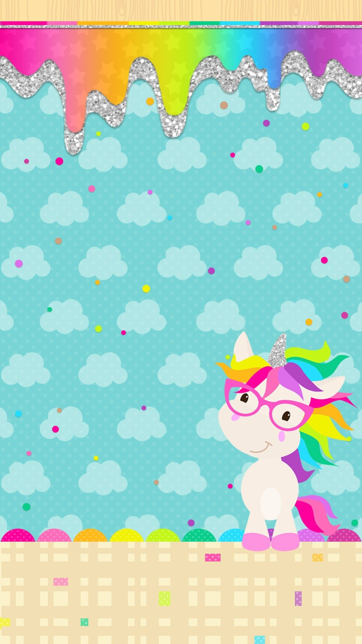 Res: 1242x2208, Cute Unicorn, Unicorn Party, Unicorn Birthday, Cute Wallpapers, Iphone  Wallpapers, Rainbow Wallpaper, Unicorn Wallpaper Cute, Colorful Wallpaper,  ...