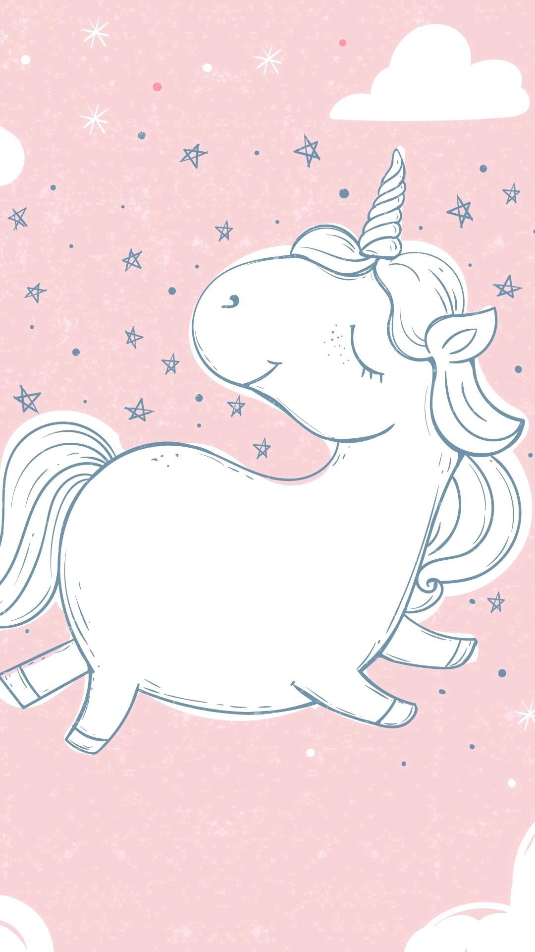Res: 1080x1920, Best Cartoon Unicorn Wallpaper HD - 761645-pink-fluffy-unicorns-wallpapers-