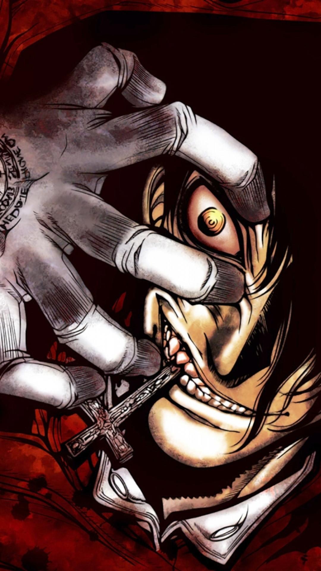Res: 1080x1920, Hellsing, Alucard, Vampire, Creepy