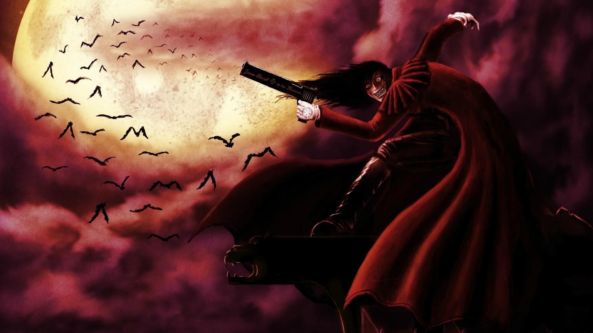 Res: 1920x1080, Alucard, Vampire, Hellsing, Demon, Alucard, Anime, Hellsing An