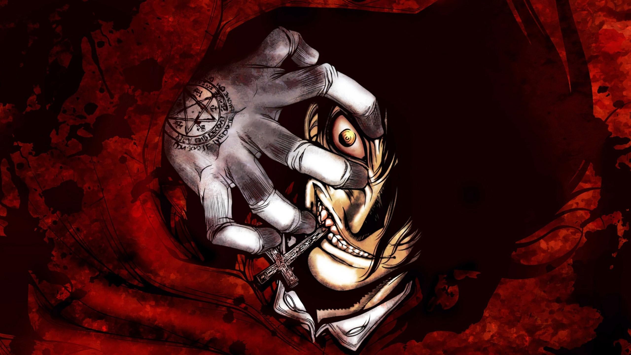 Res: 2560x1440, Hellsing, Alucard, Vampire, Creepy