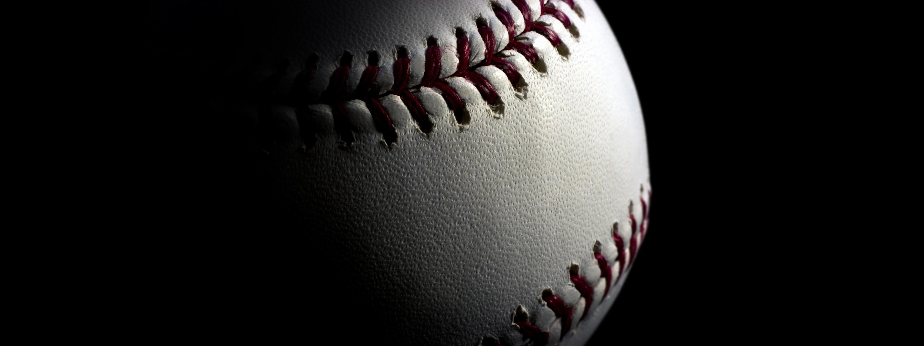 Res: 3200x1200, Baseball Wallpaper