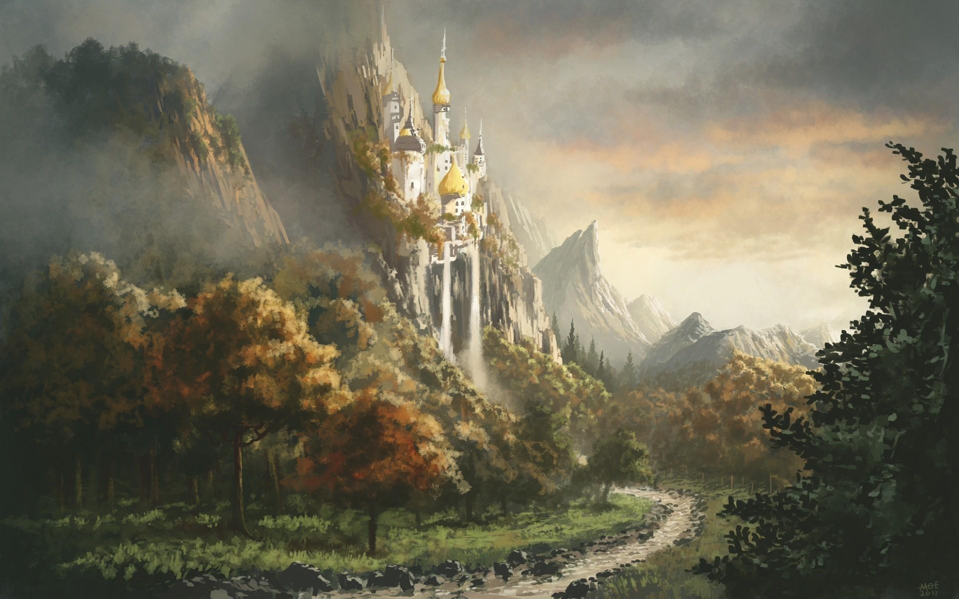 Res: 1920x1200, Pony Pony Freundschaft ist Magie Schlösser Landschaften wallpaper
