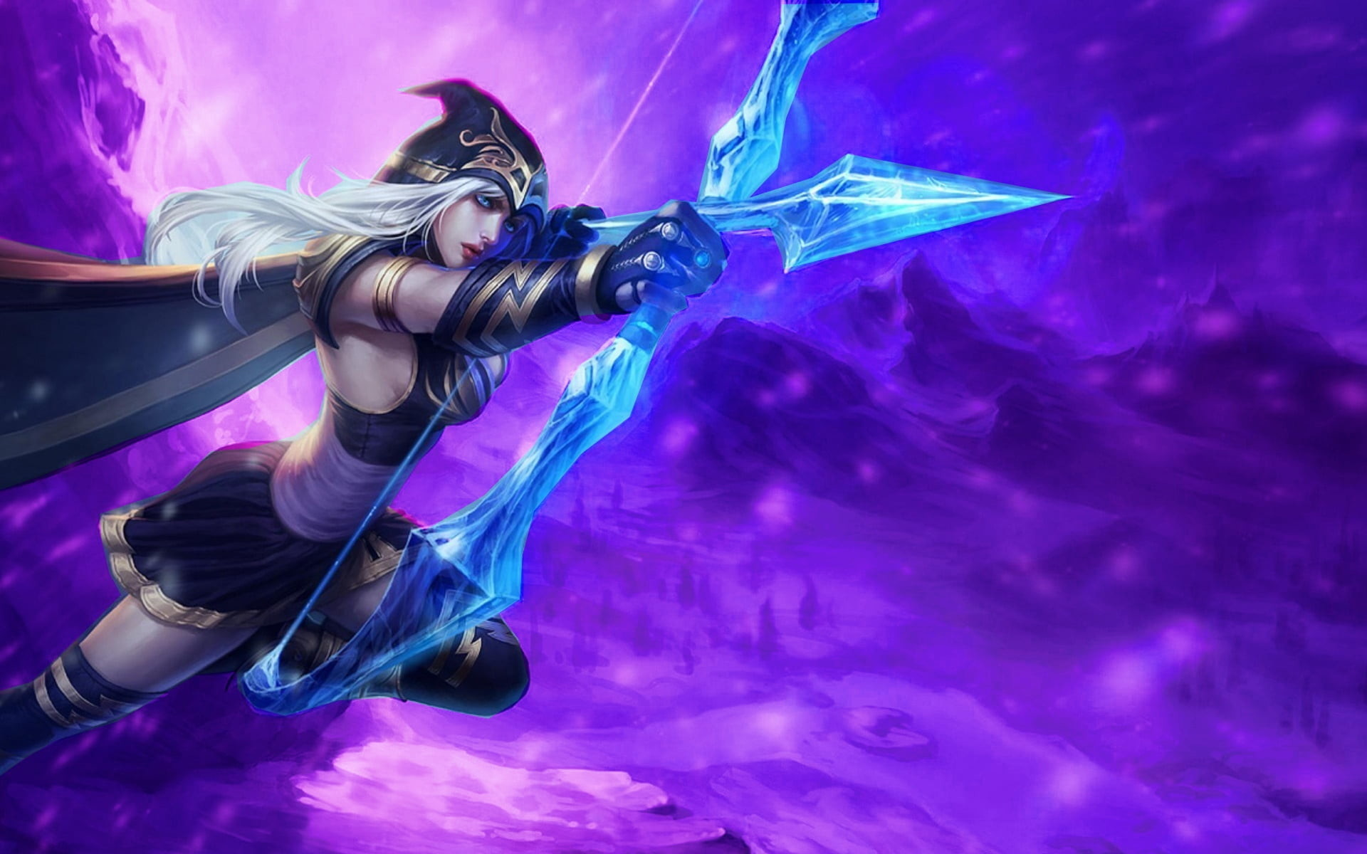 Res: 1920x1200, Ashe from League of Legends illustration HD wallpaper