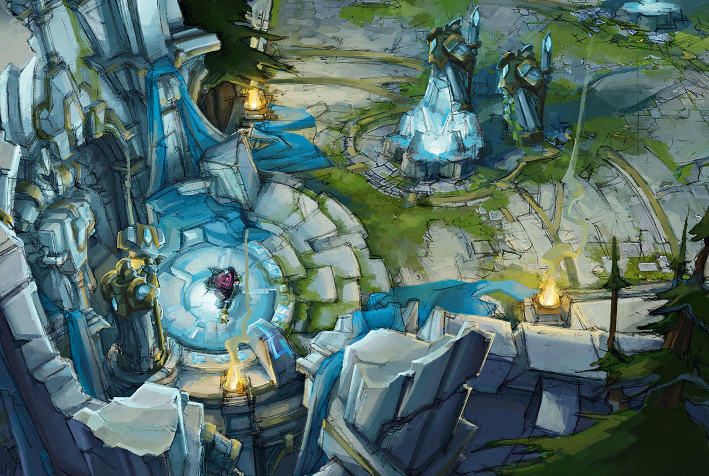 Res: 2400x1612, Summoners Rift Concept (5) League of Legends Artwork Wallpaper lol