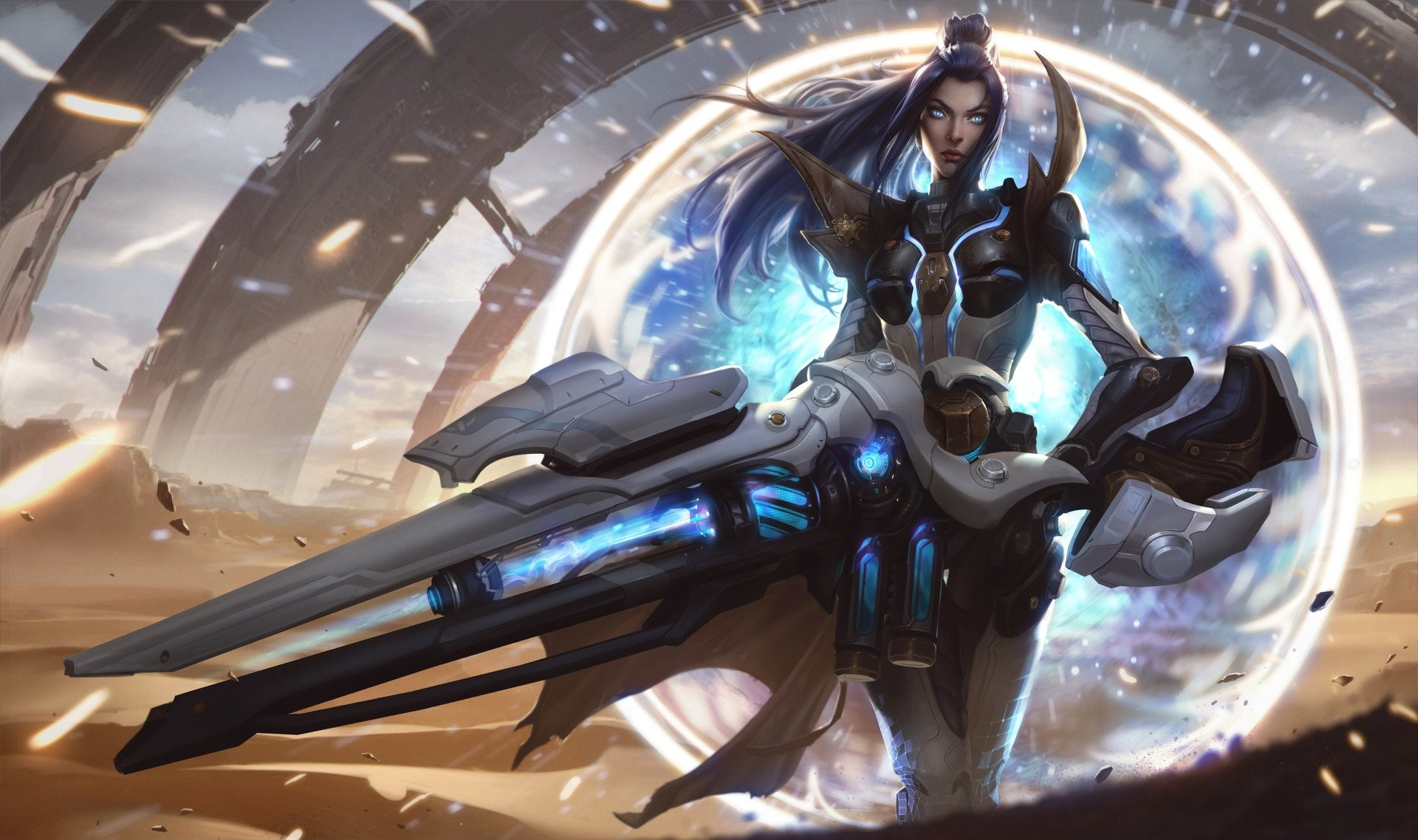 Res: 1920x1138, warrior caitlyn league of legends fantasy art armor futuristic summoners  rift wallpaper and background