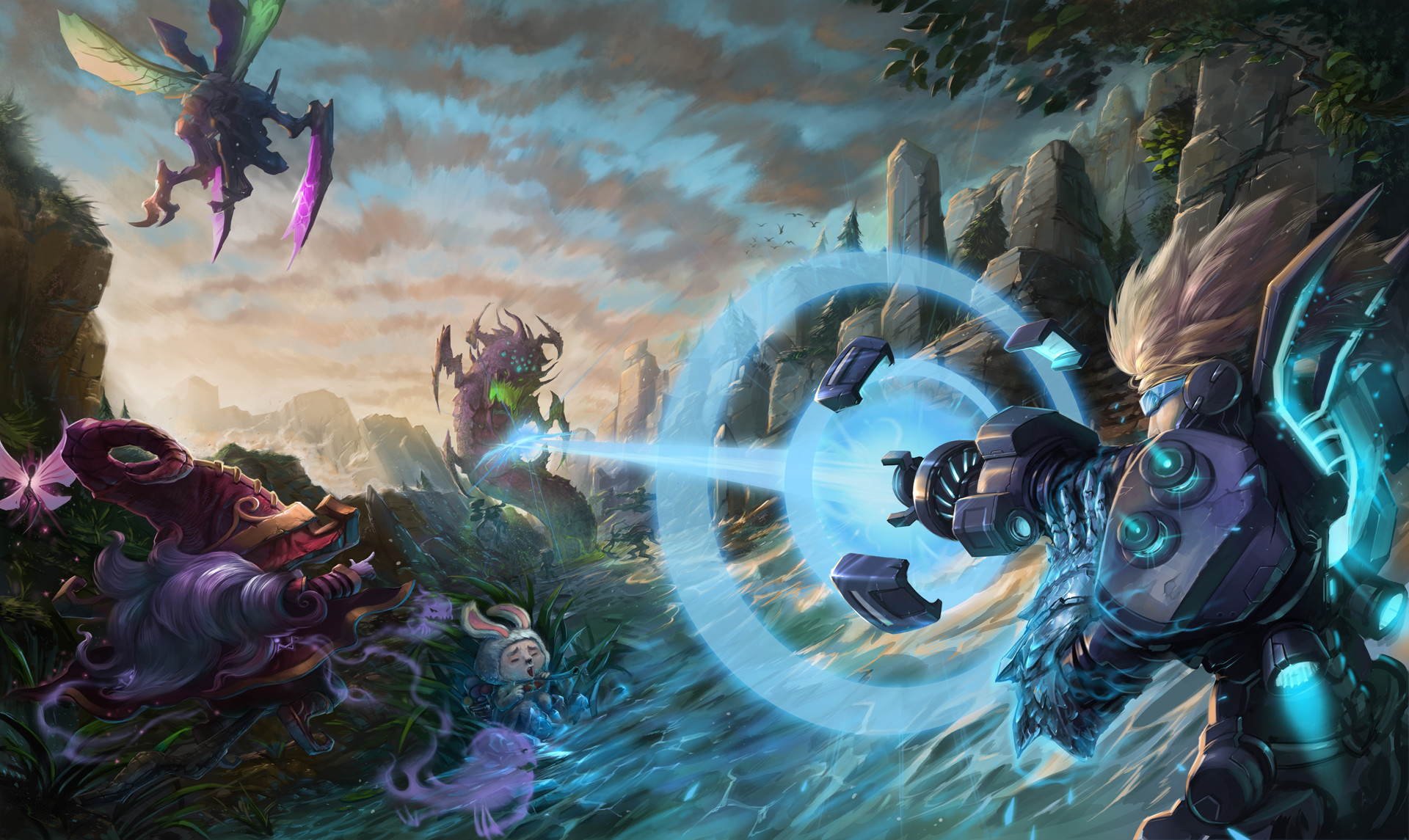 Res: 1920x1145, Assaulting the ultimate objective on Summoner's Rift is easier when you're  properly equipped. As Pulsefire Ezreal prepares to test out his Iceborn  Gauntlet, ...