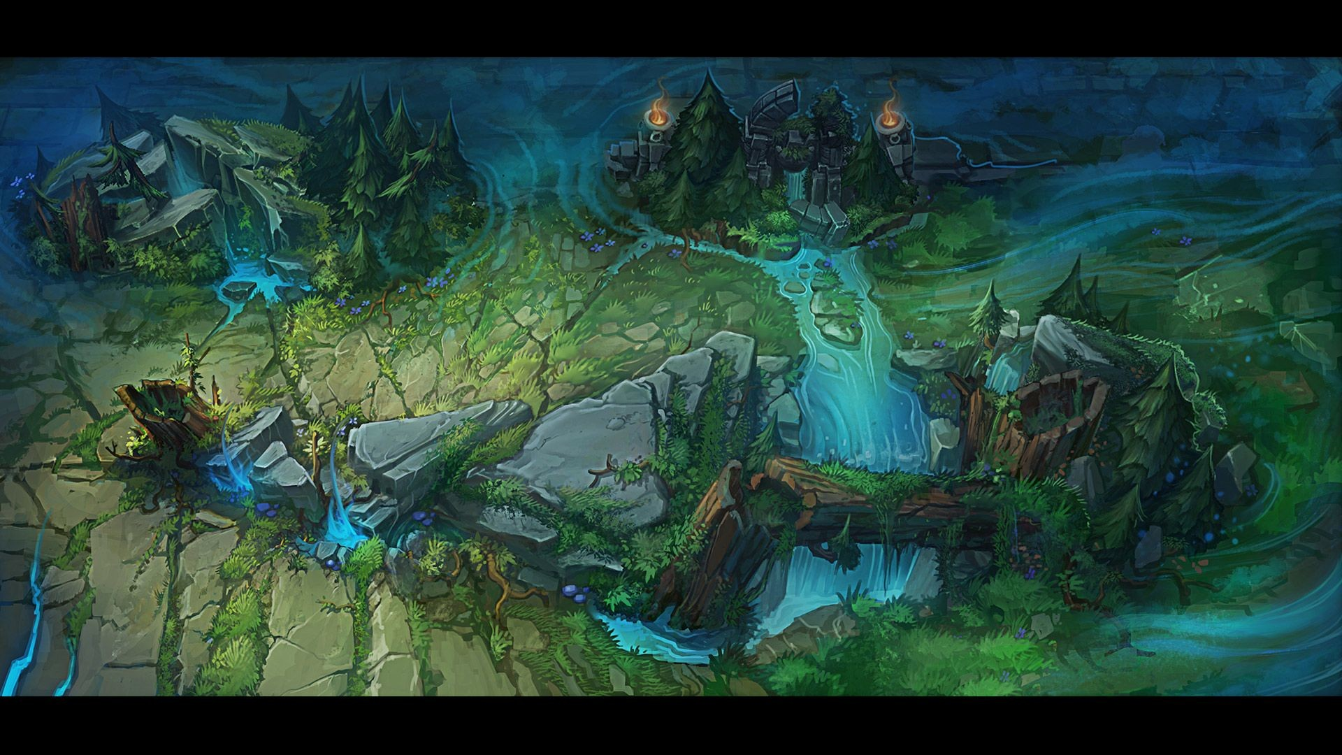 Res: 1920x1080, Check out some Summoner's Rift concept art! | League of Legends