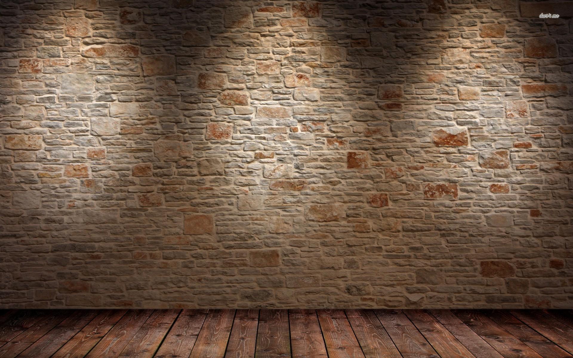 Res: 1920x1200, Brick Wall And Wood Floor Hd Wallpaper Abstract Desktop Widescreen For  Walls Of Pc Pics