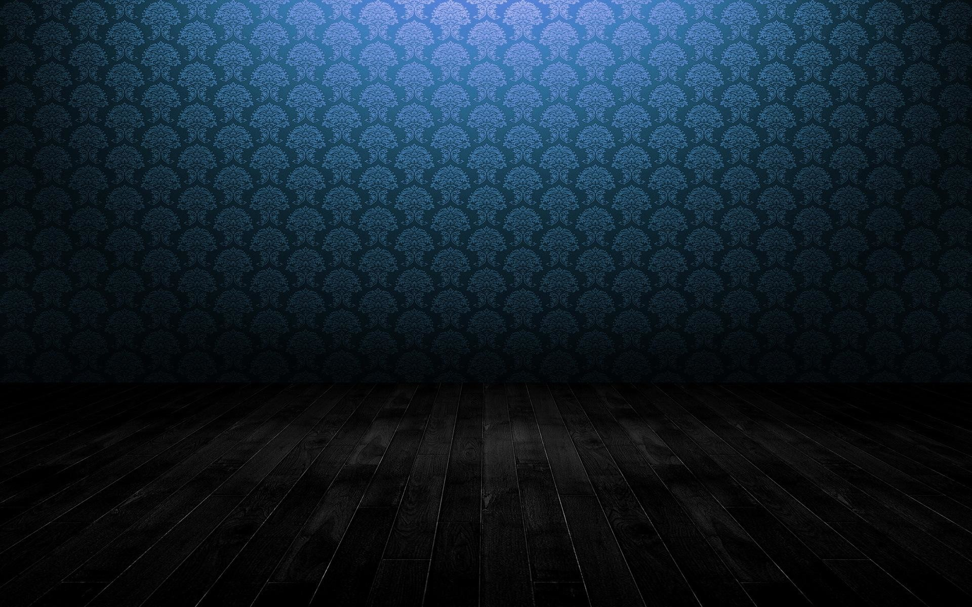 Res: 1920x1200, Blue pattern wall and wooden floor