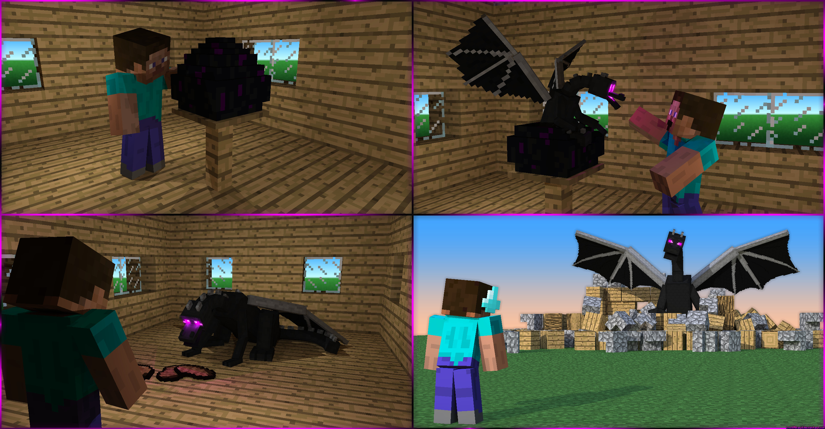 Res: 2763x1439, ... How not to raise an Enderdragon by LockRikard