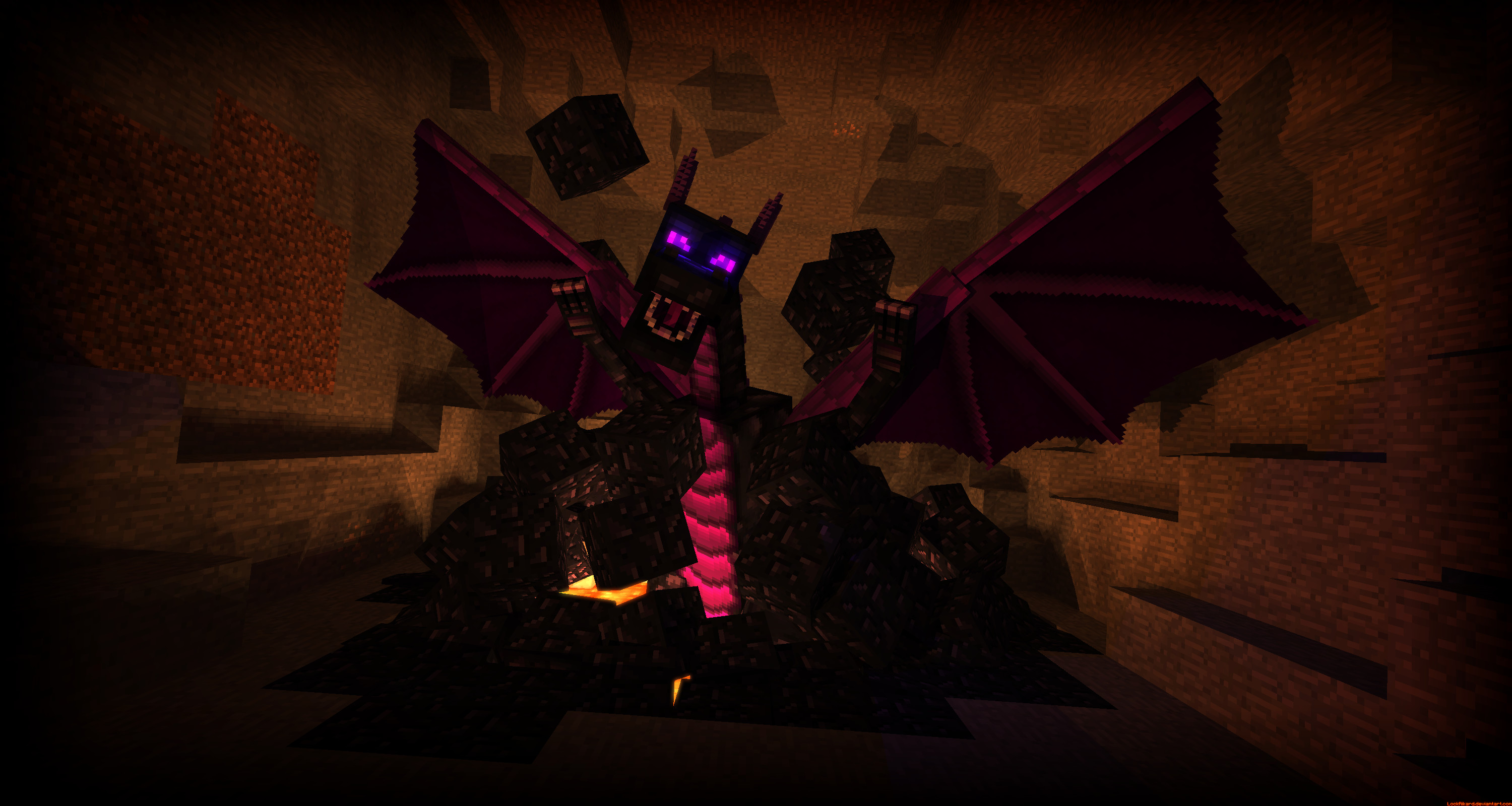 Res: 3000x1600, Image result for enderdragon in the nether