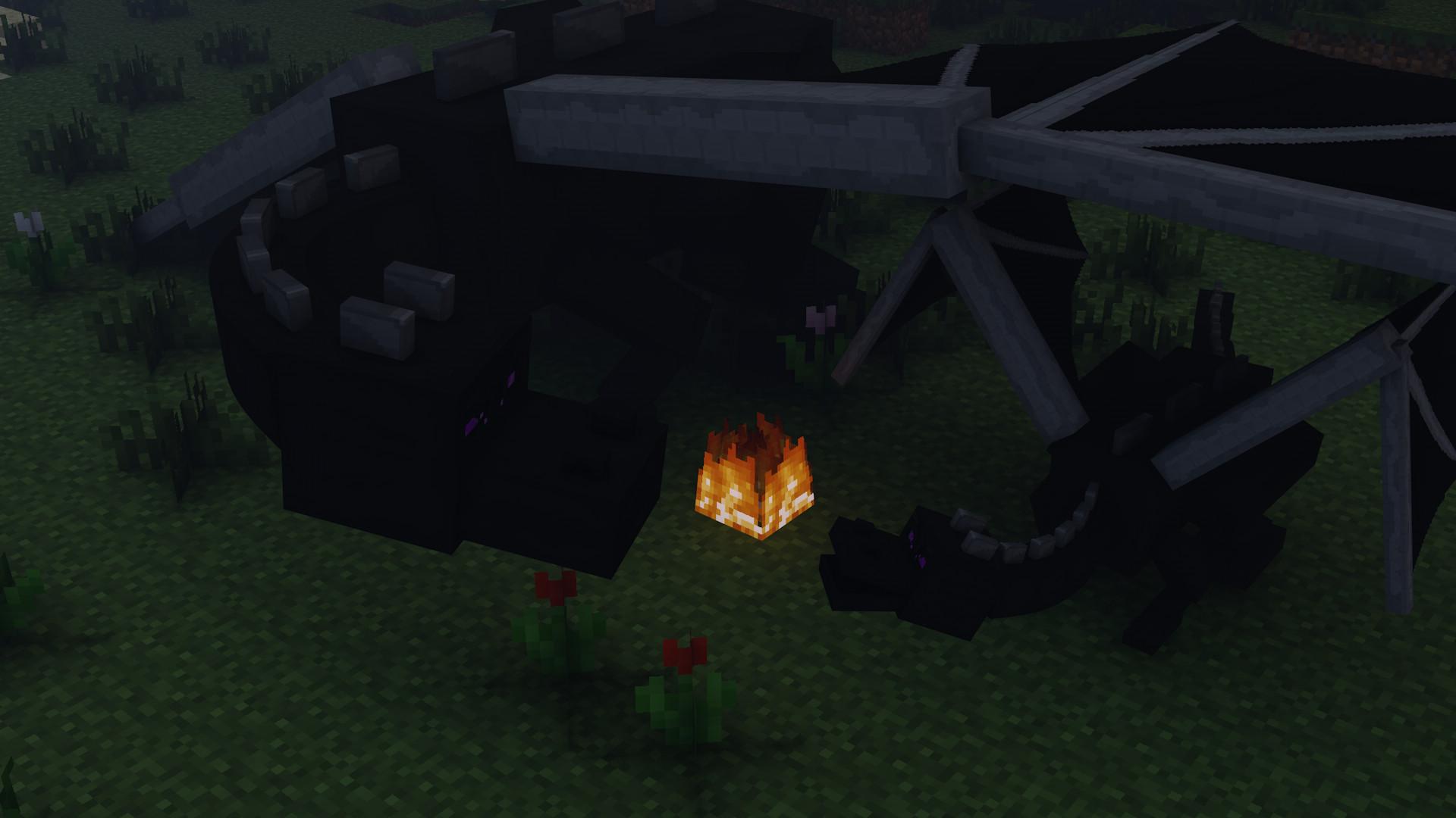 Res: 1920x1080, Gry Wideo - Minecraft Smok Ender Dragon Mojang Tapeta