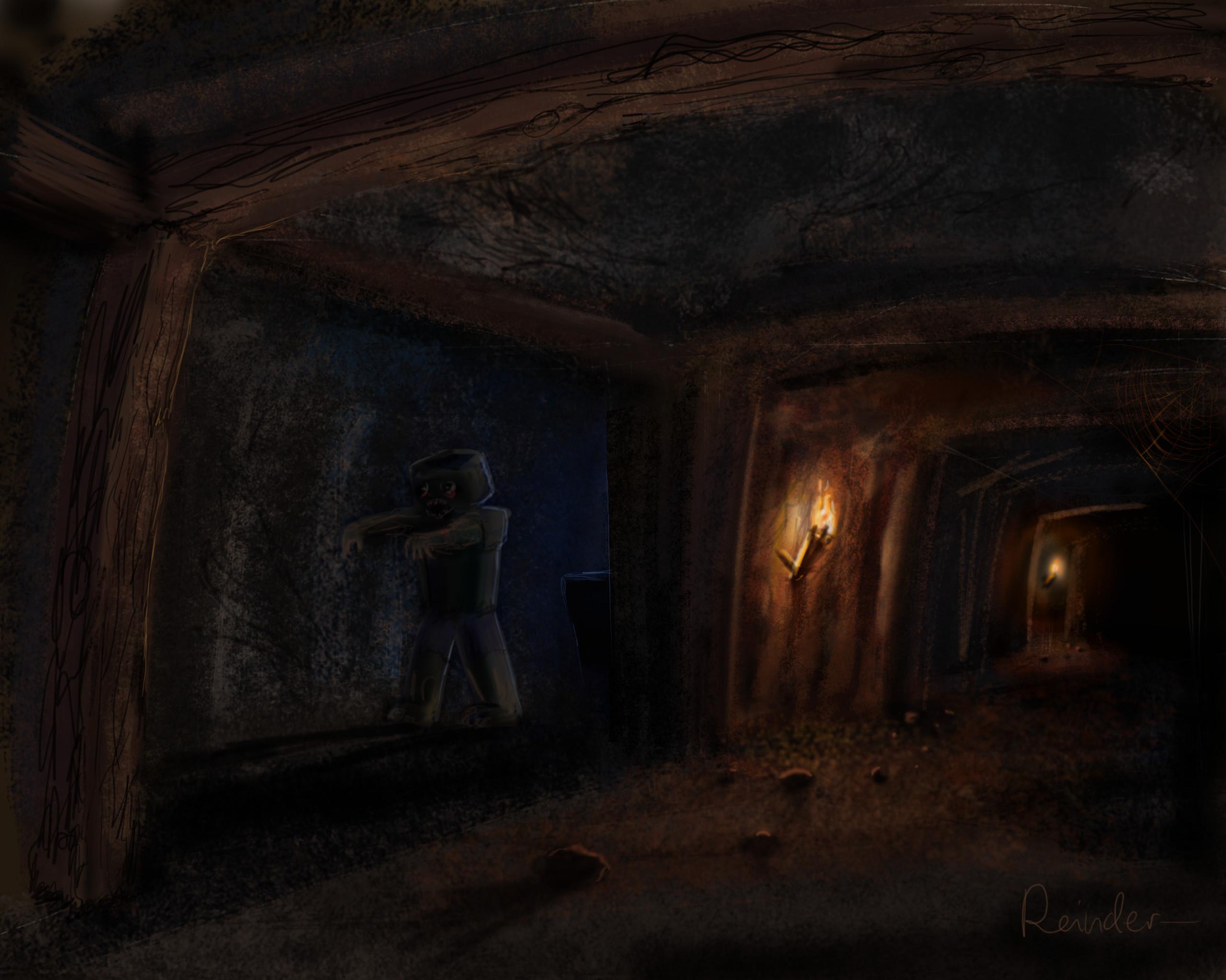Res: 2560x2048, minecraft - Zombie by Reinder88