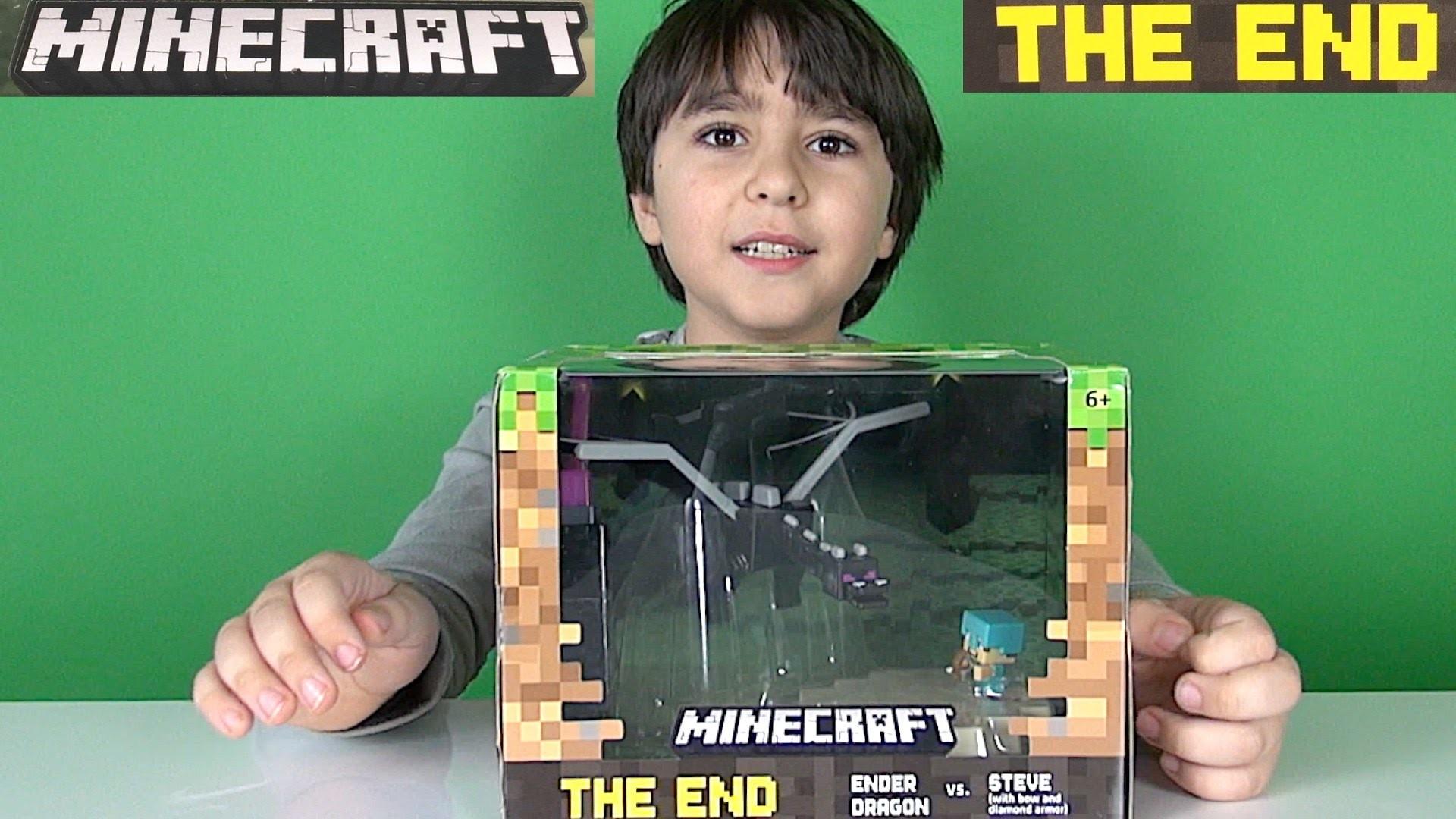 Res: 1920x1080, Minecraft The End - Ender Dragon vs Steve - Minecraft Battle