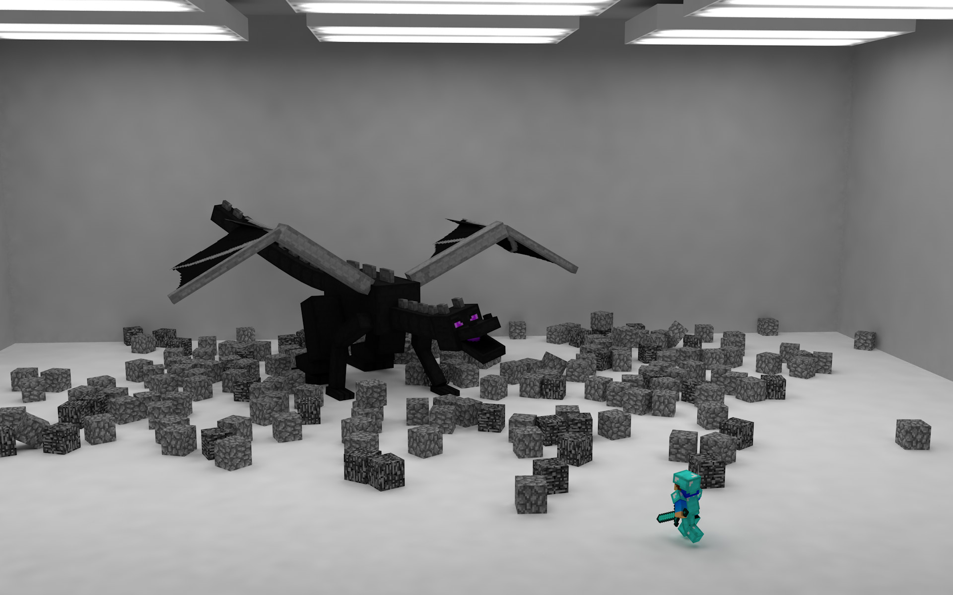 Res: 1920x1200, ender dragon fight by dog8808 ender dragon fight by dog8808