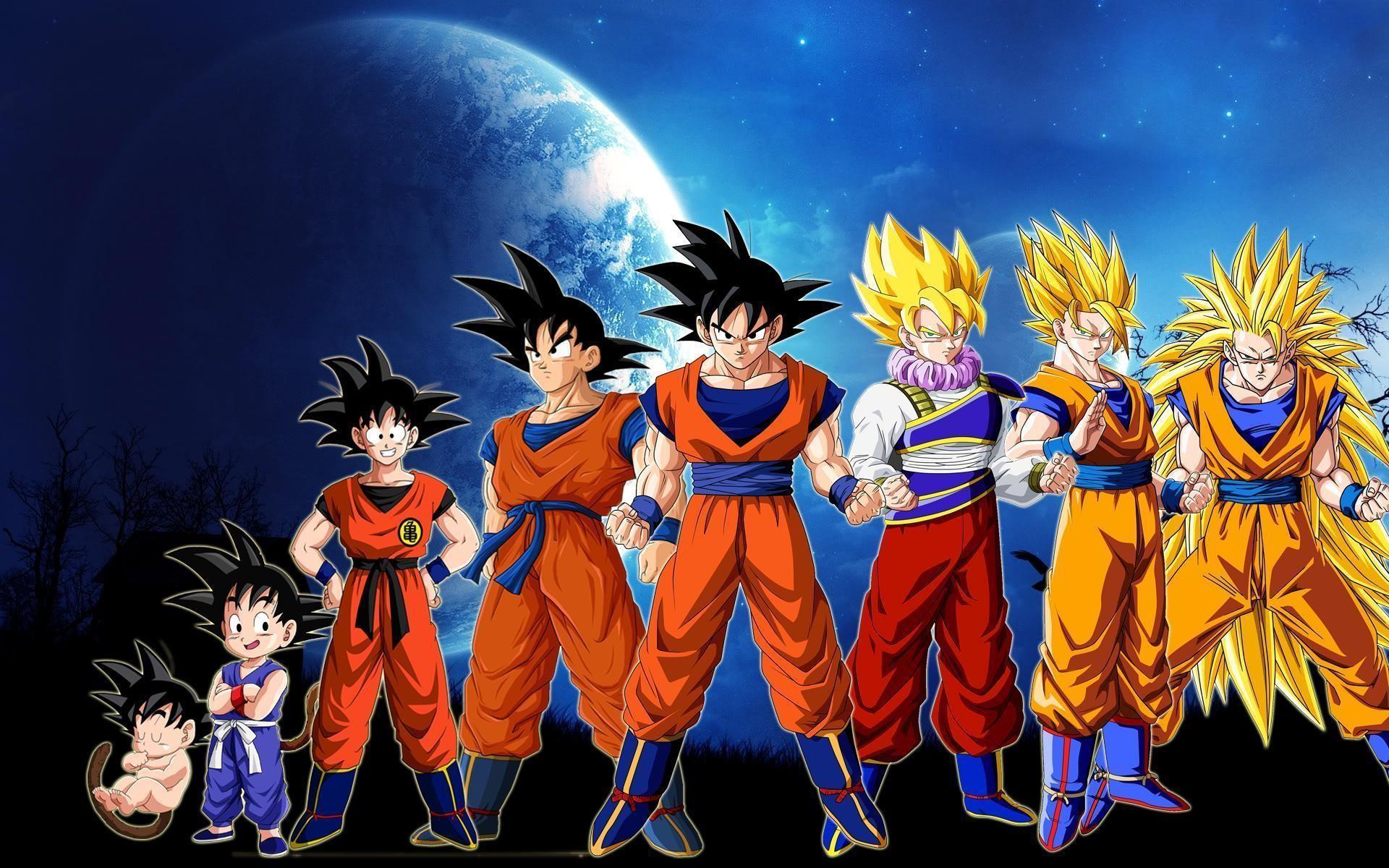 Res: 1920x1200, Dragon Ball Z Goku Story Wallpaper Download HD | wolcartoon.