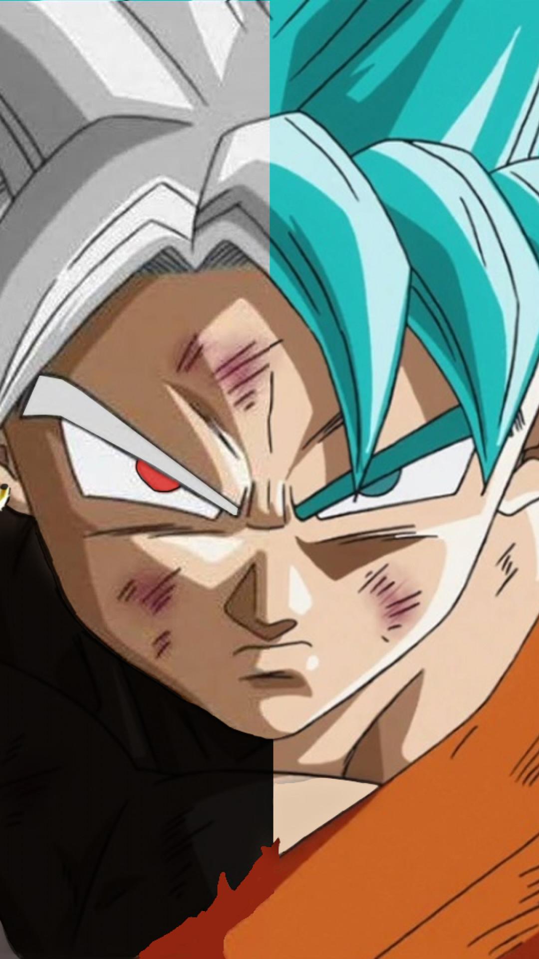 Res: 1080x1920, Black Goku and Son Goku - iPhone 6 Plus