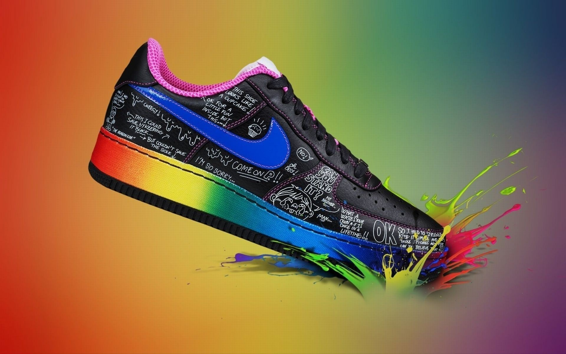 Res: 1920x1200, Colorful Sport Shoe Nike Wallpaper